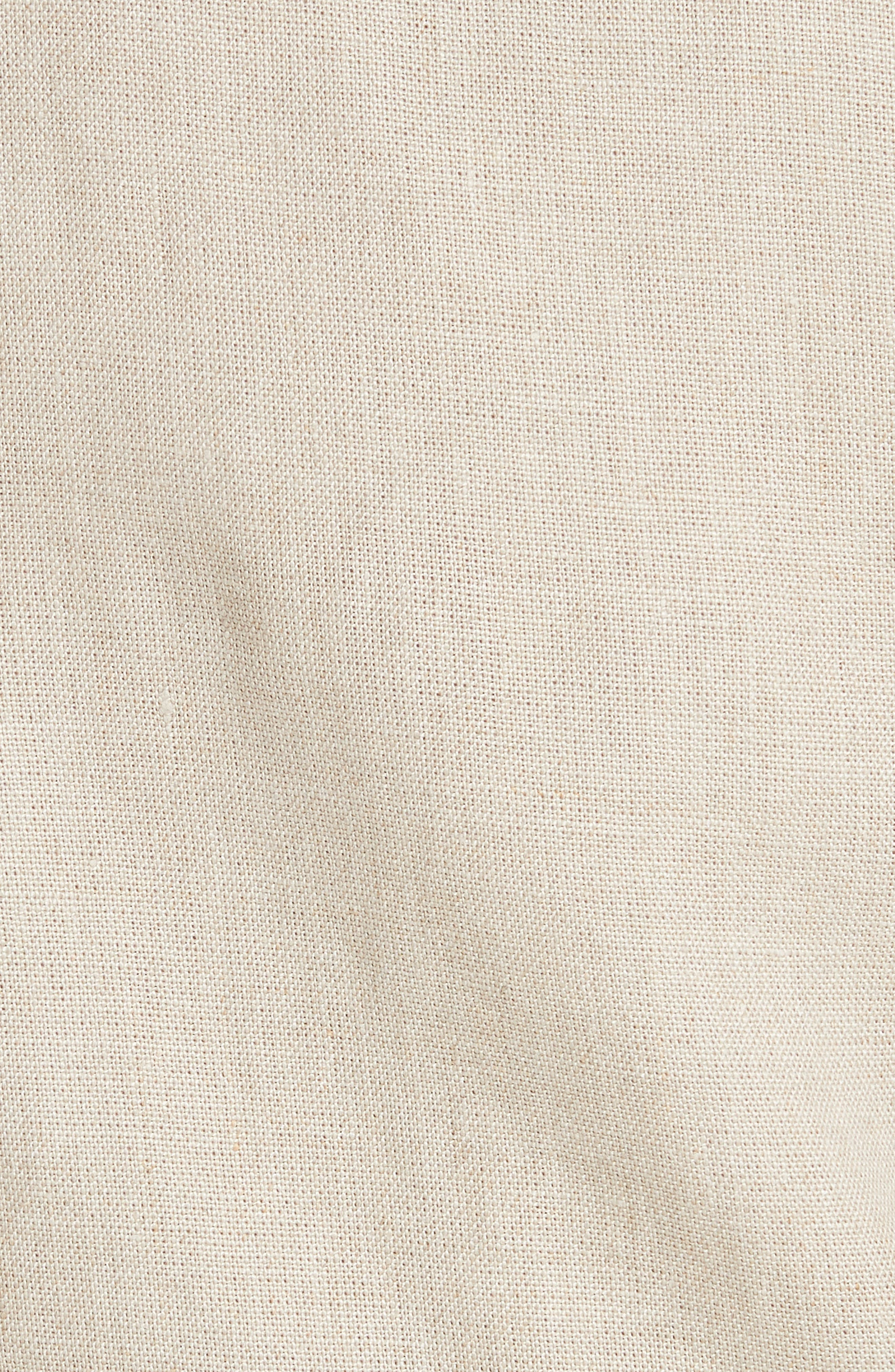 Shrunken Linen Moto Jacket,                             Alternate thumbnail 6, color,