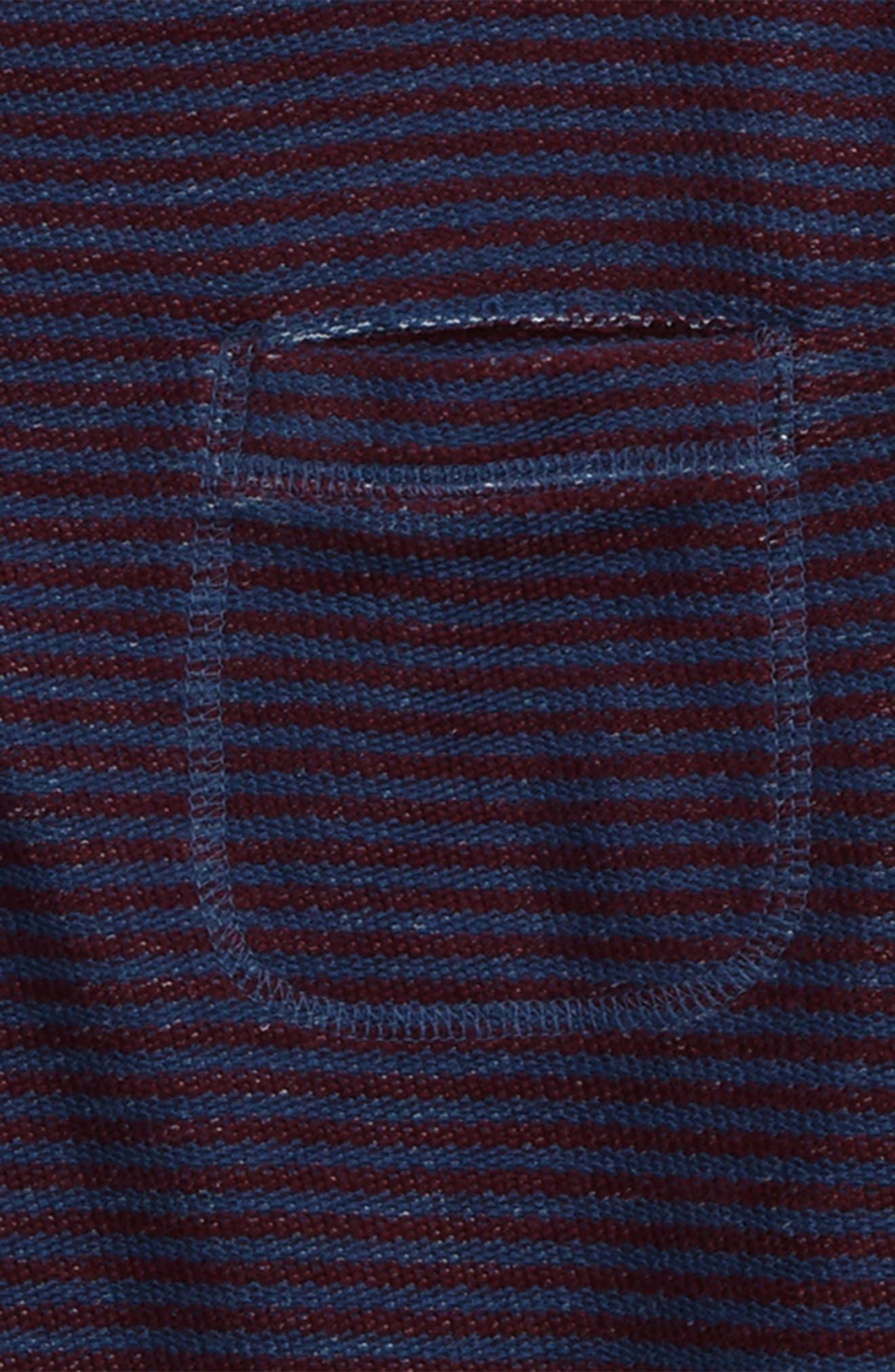 Stripe Crewneck Sweatshirt,                             Alternate thumbnail 2, color,                             410