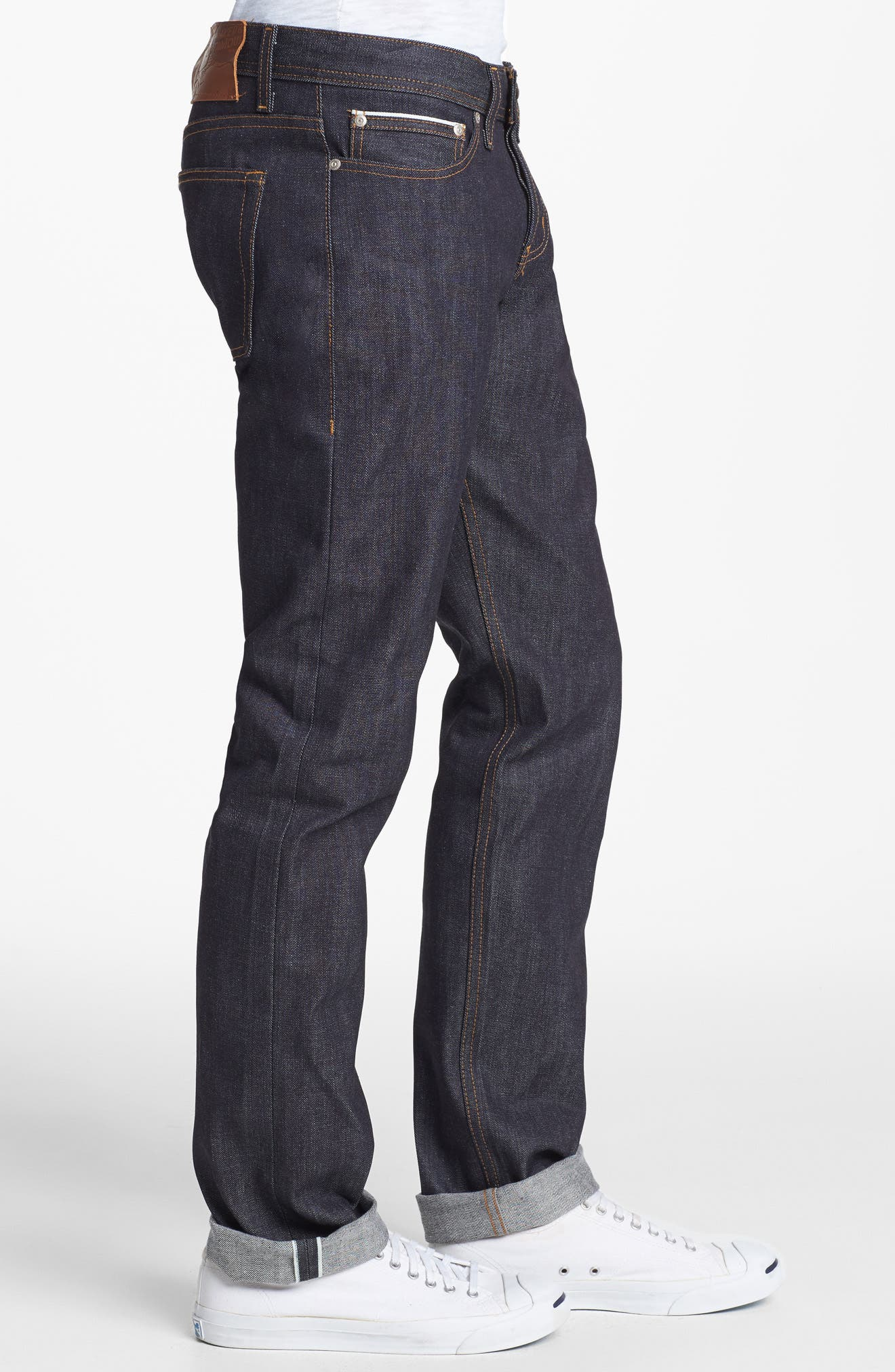 Weird Guy Slim Fit Jeans,                             Alternate thumbnail 4, color,                             LEFT HAND TWILL SELVEDGE