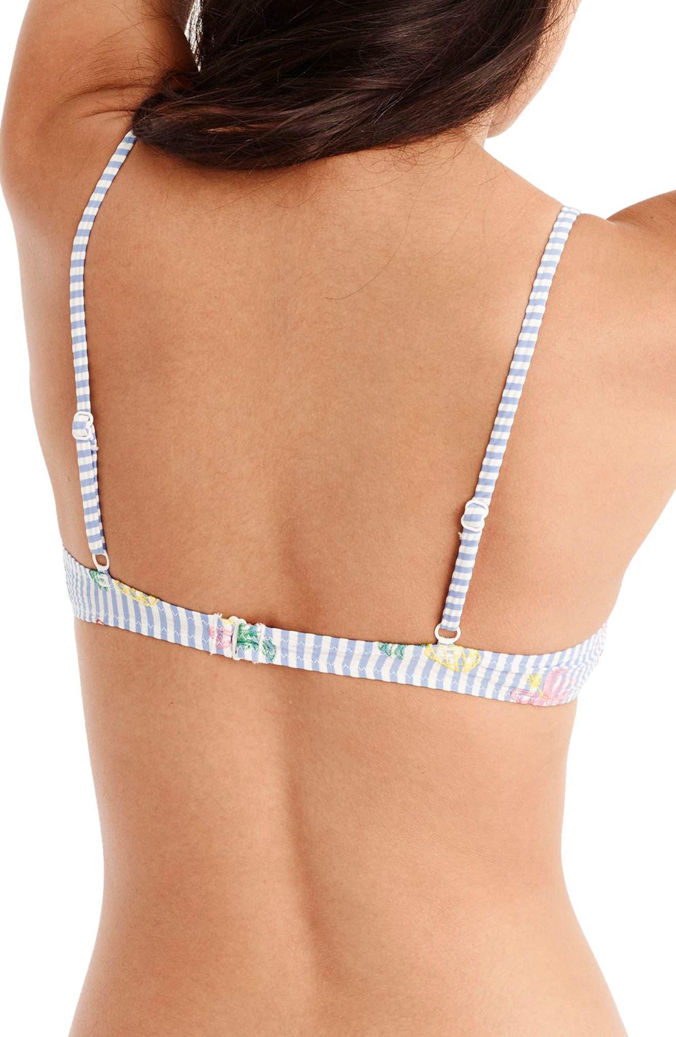 Seersucker French Bikini Top,                             Alternate thumbnail 2, color,                             600