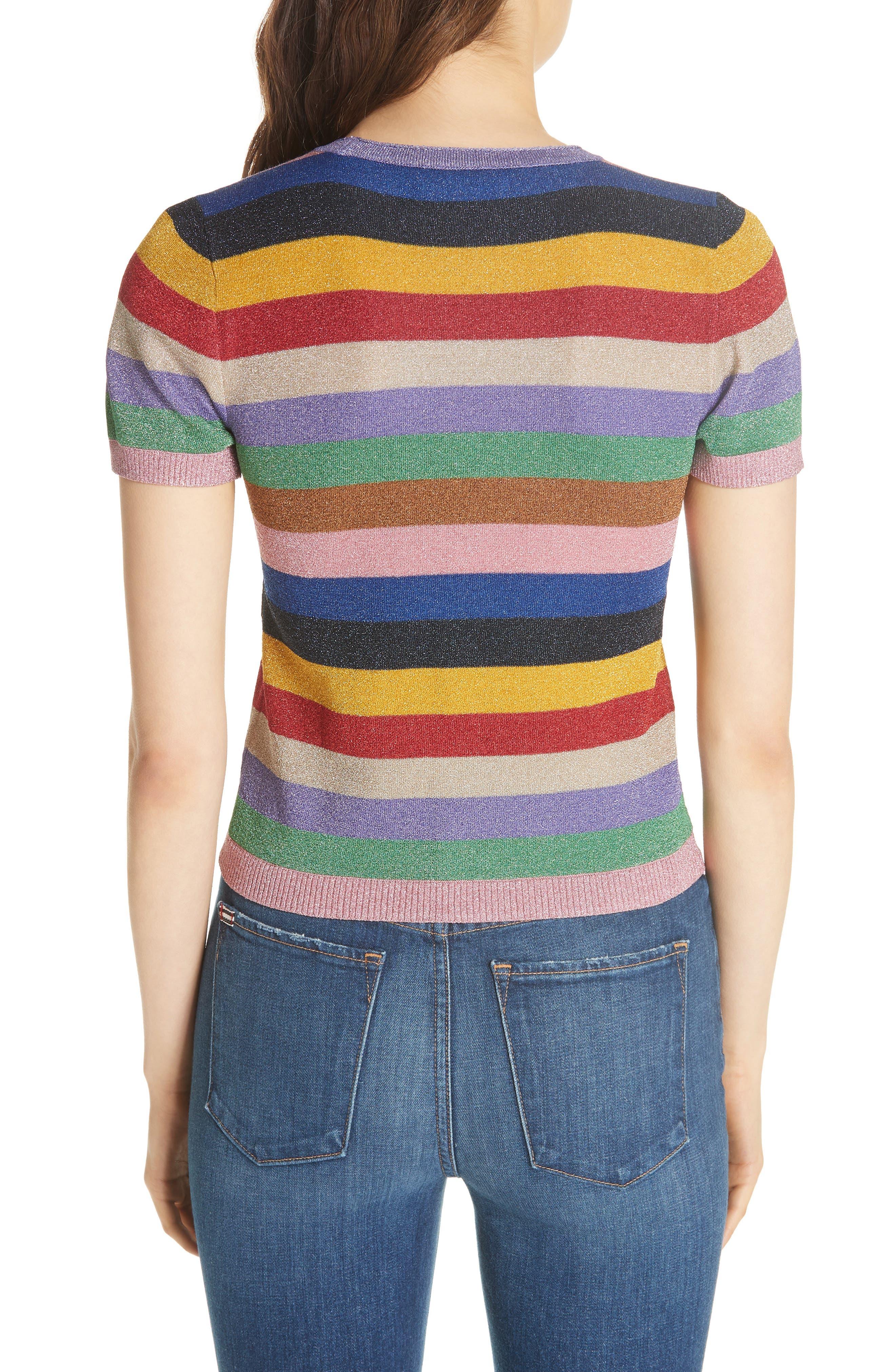 Baylor Stripe Top,                             Alternate thumbnail 2, color,                             505