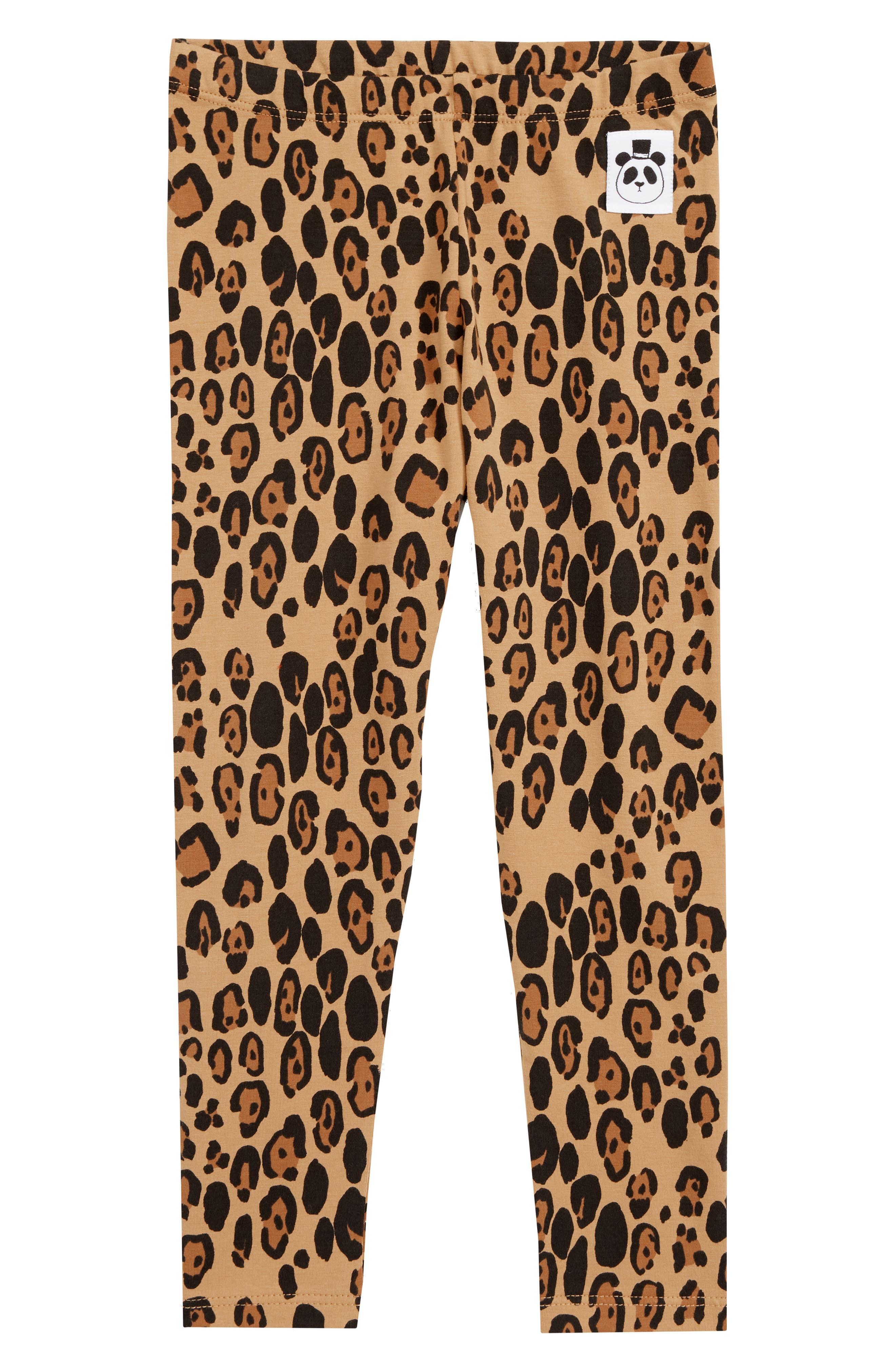 Leopard Leggings,                             Main thumbnail 1, color,                             BEIGE