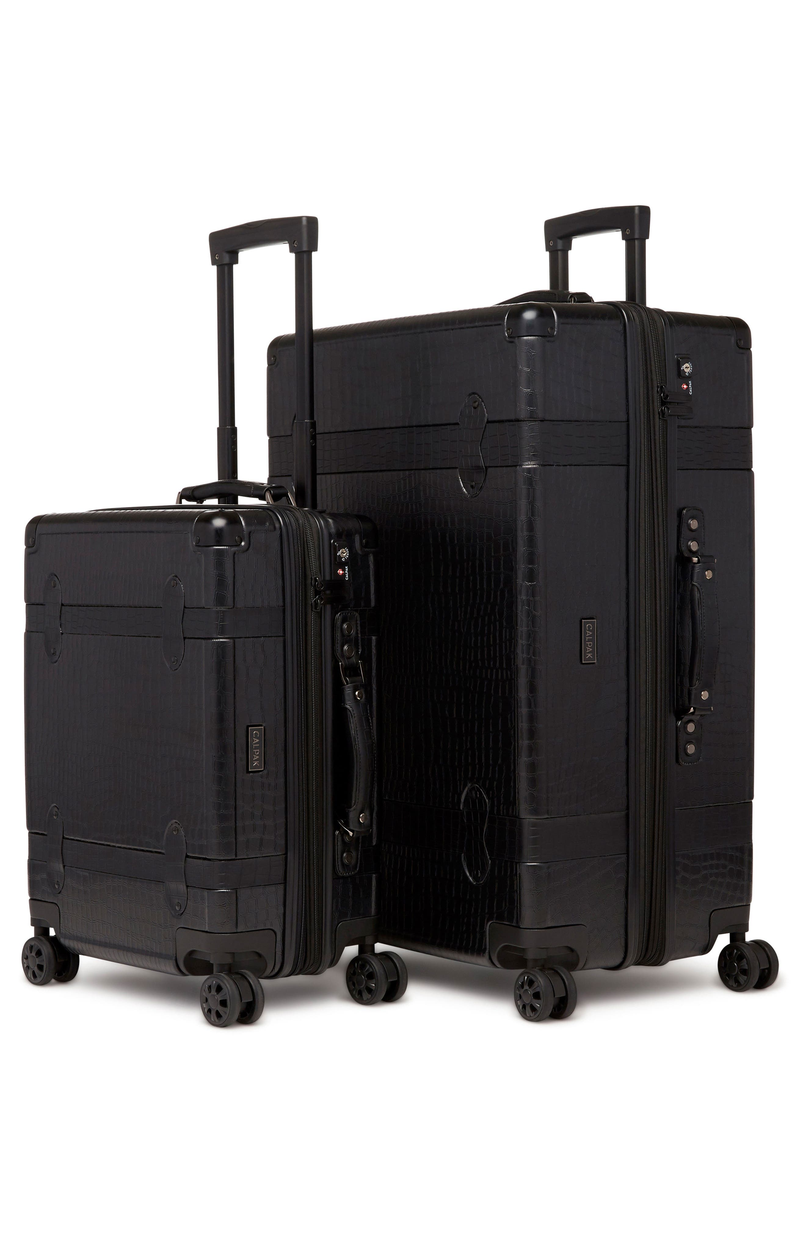 20-Inch & 28-Inch Trunk Rolling Luggage Set,                             Alternate thumbnail 2, color,                             NOIR