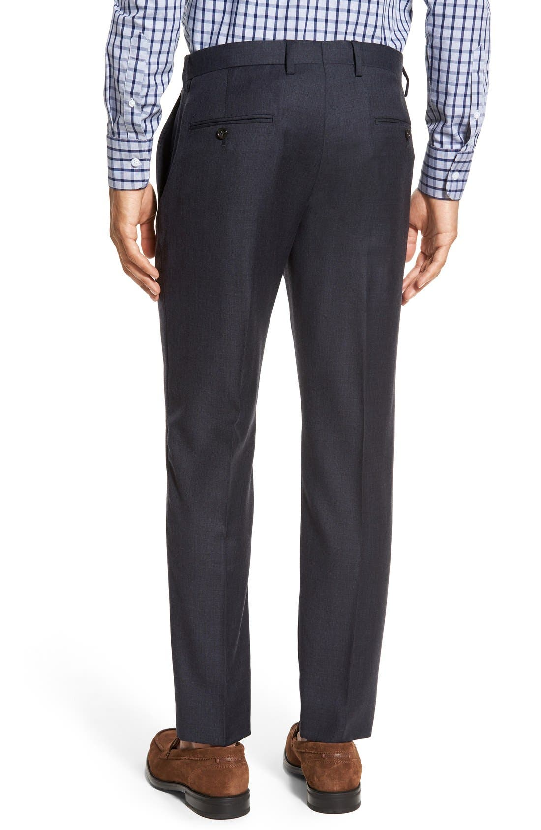 Ludlow Flat Front Solid Wool Trousers,                             Alternate thumbnail 20, color,