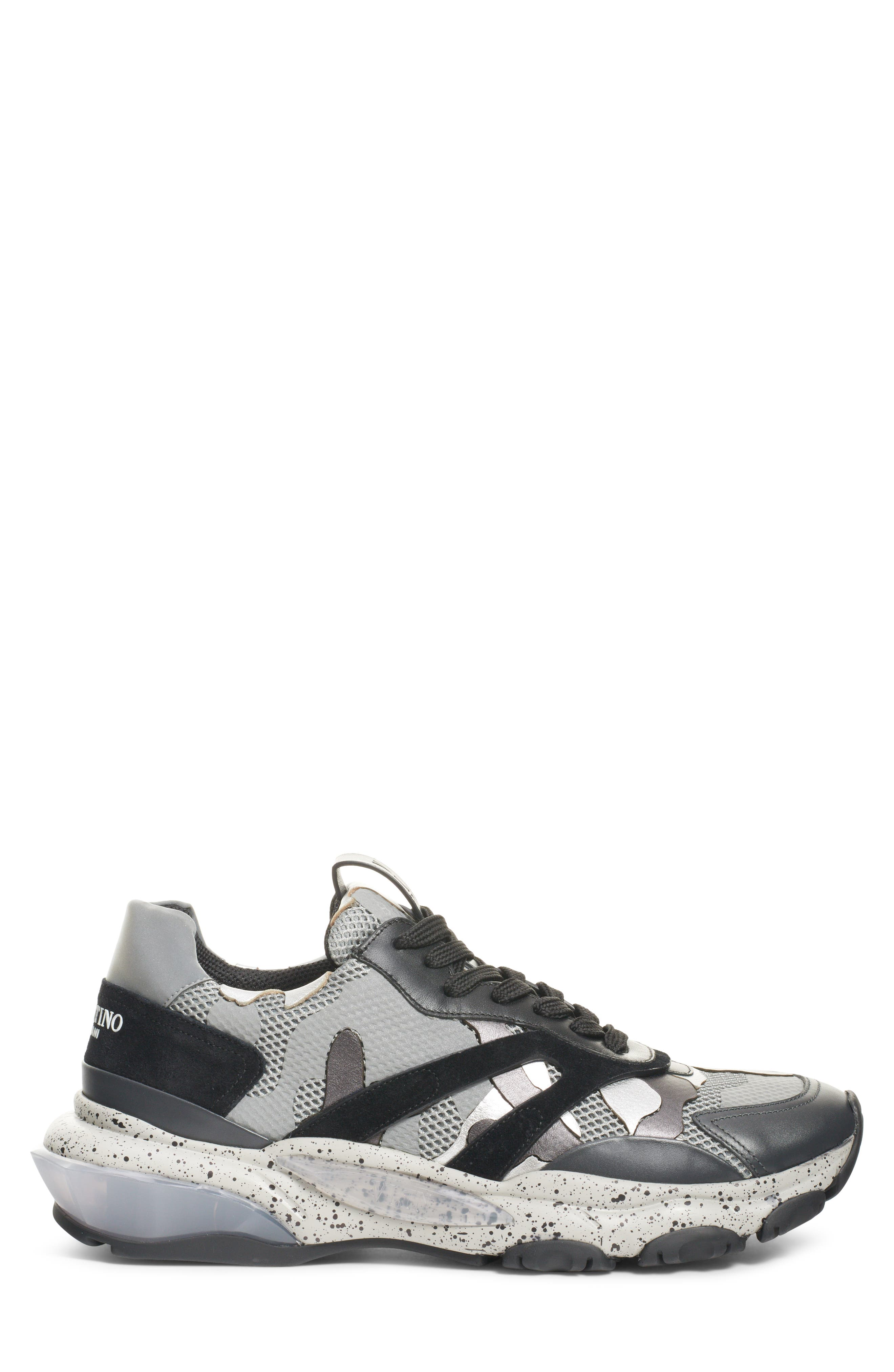 Bounce Sneaker,                             Alternate thumbnail 3, color,                             DARK SILVER/ BLACK
