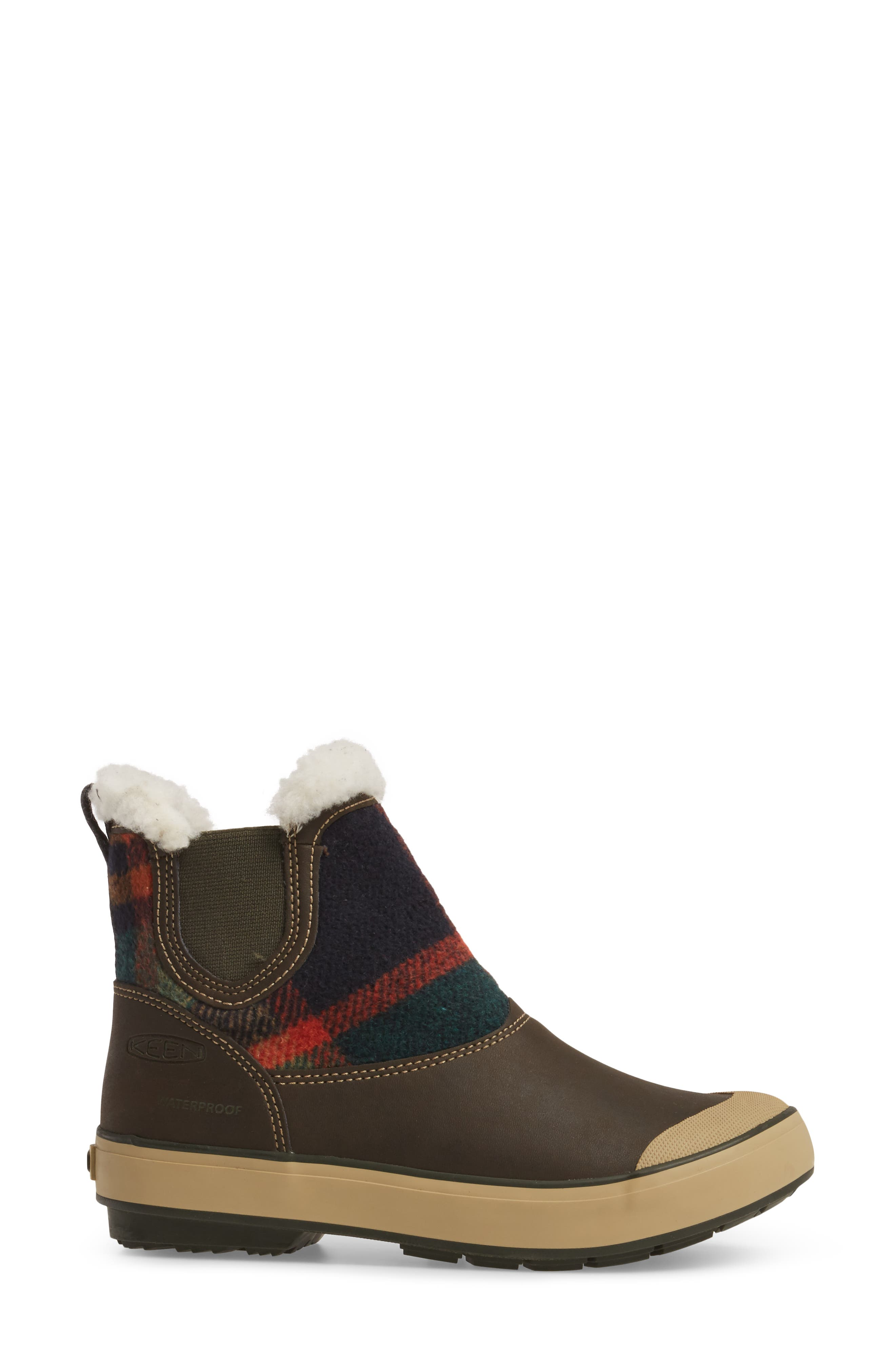 Elsa Chelsea Waterproof Faux Fur Lined Boot,                             Alternate thumbnail 12, color,