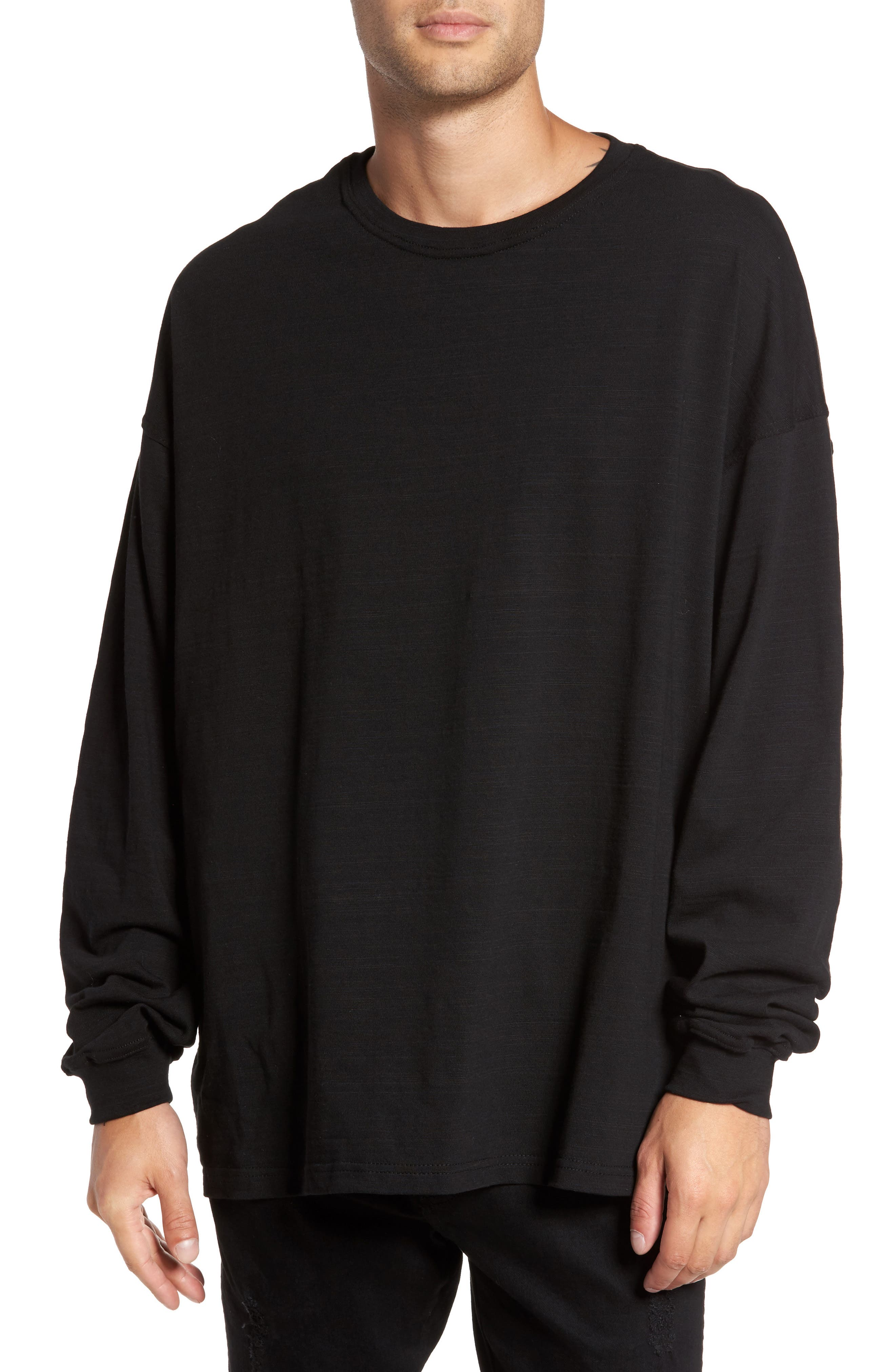 Relaxed Fit Long Sleeve T-Shirt, Main, color, 001
