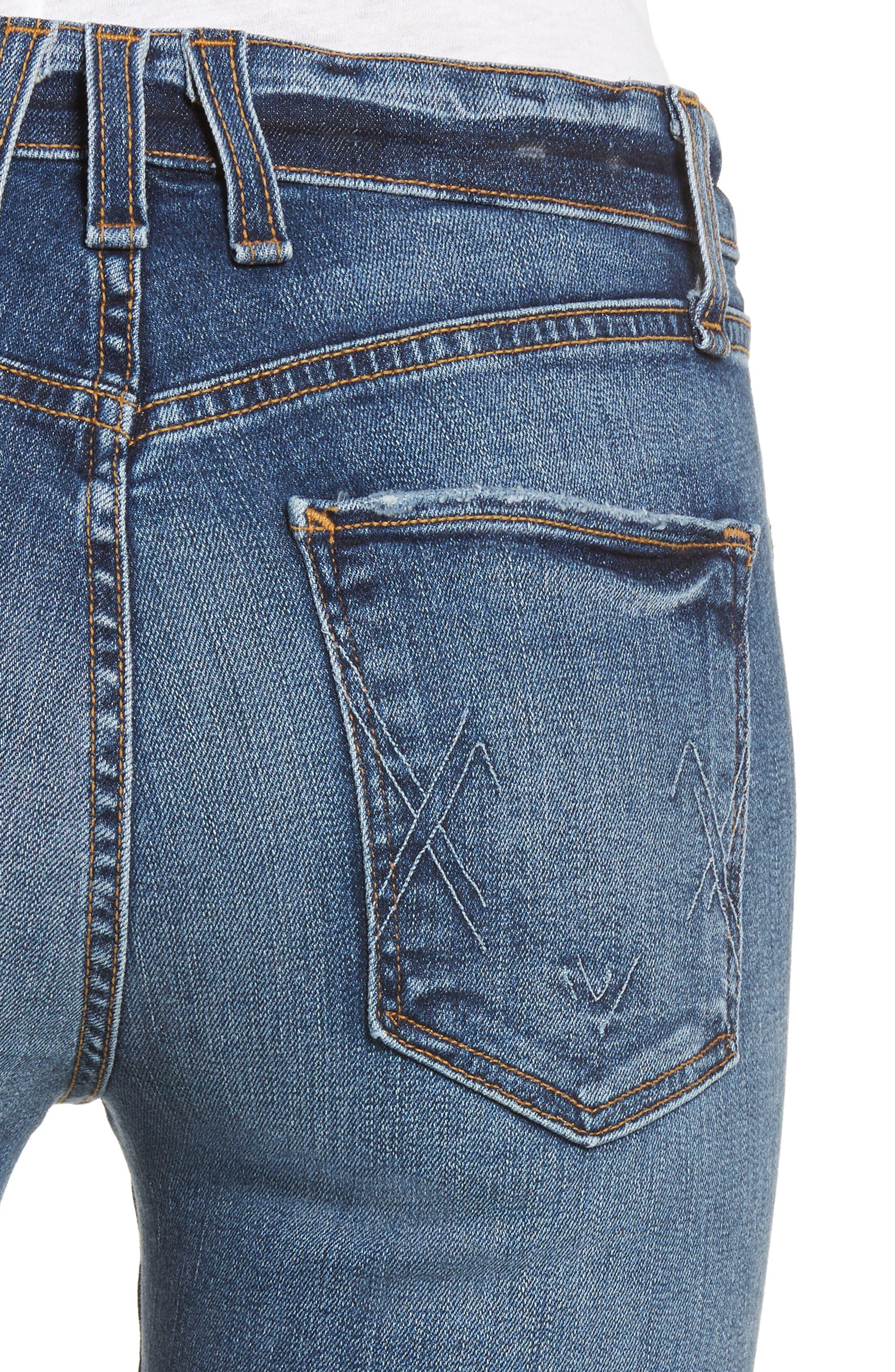 Windsor Destroyed High Waist Straight Leg Jeans,                             Alternate thumbnail 4, color,                             430