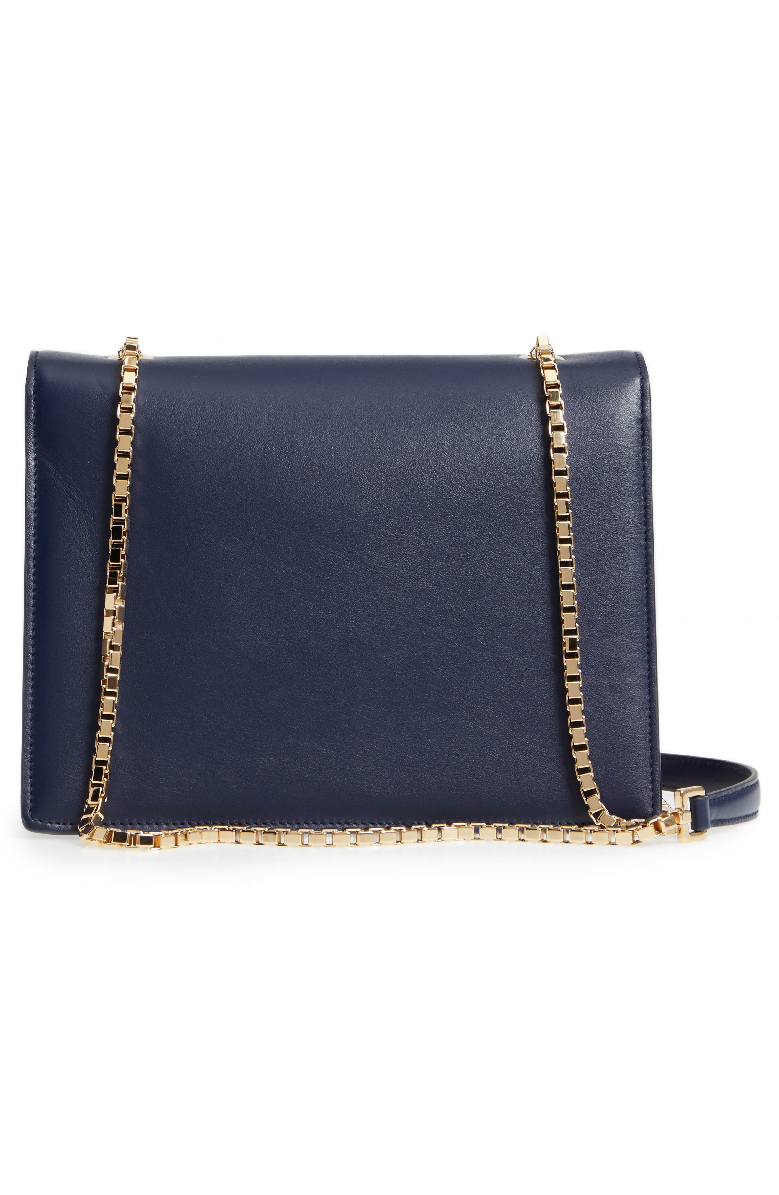 Thalia Gancio Leather Shoulder Bag,                             Alternate thumbnail 3, color,                             MIRTO