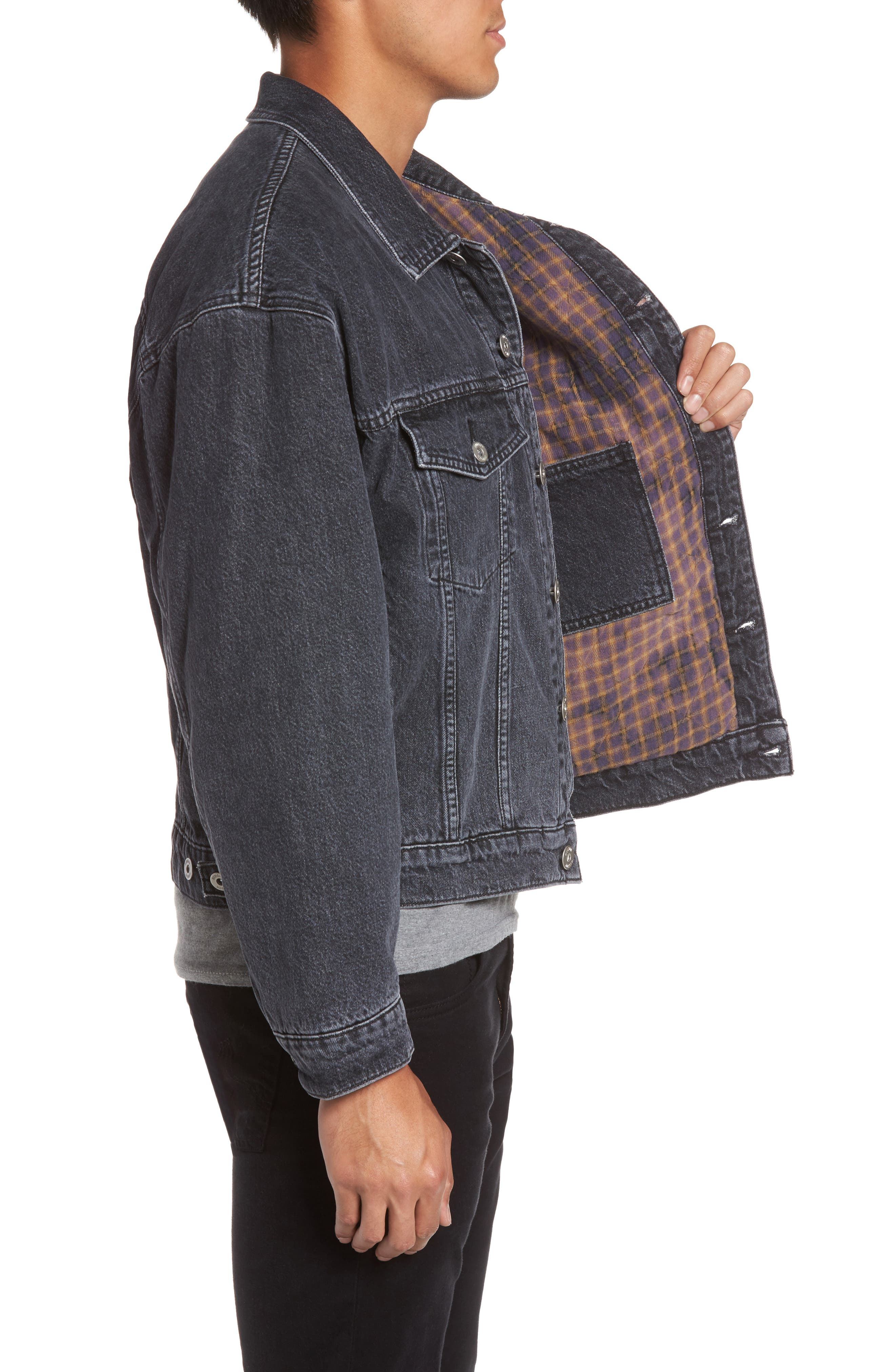 Denim Jacket,                             Alternate thumbnail 3, color,                             020