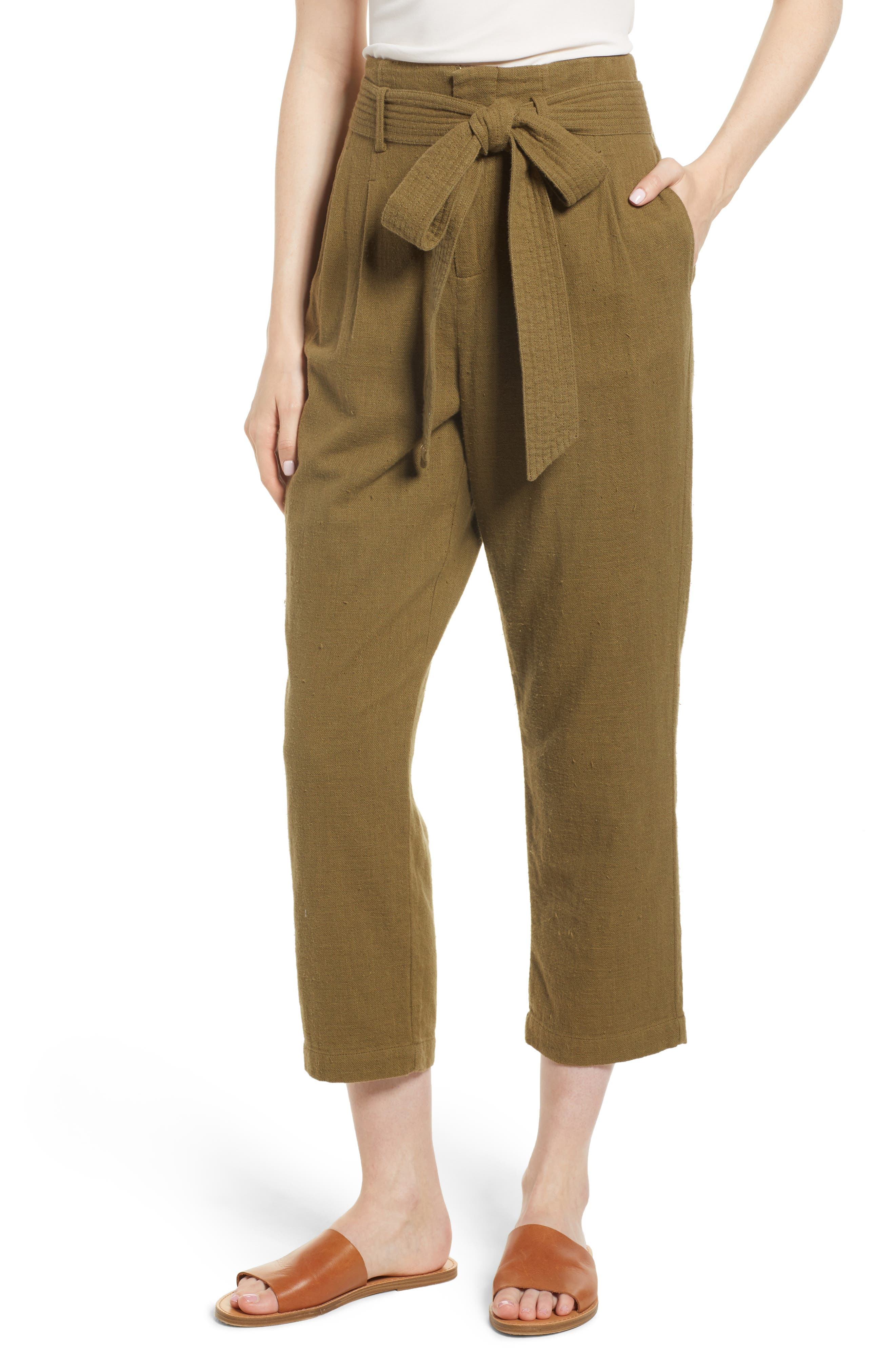 Darena Pants,                         Main,                         color, OLIVE GROVE