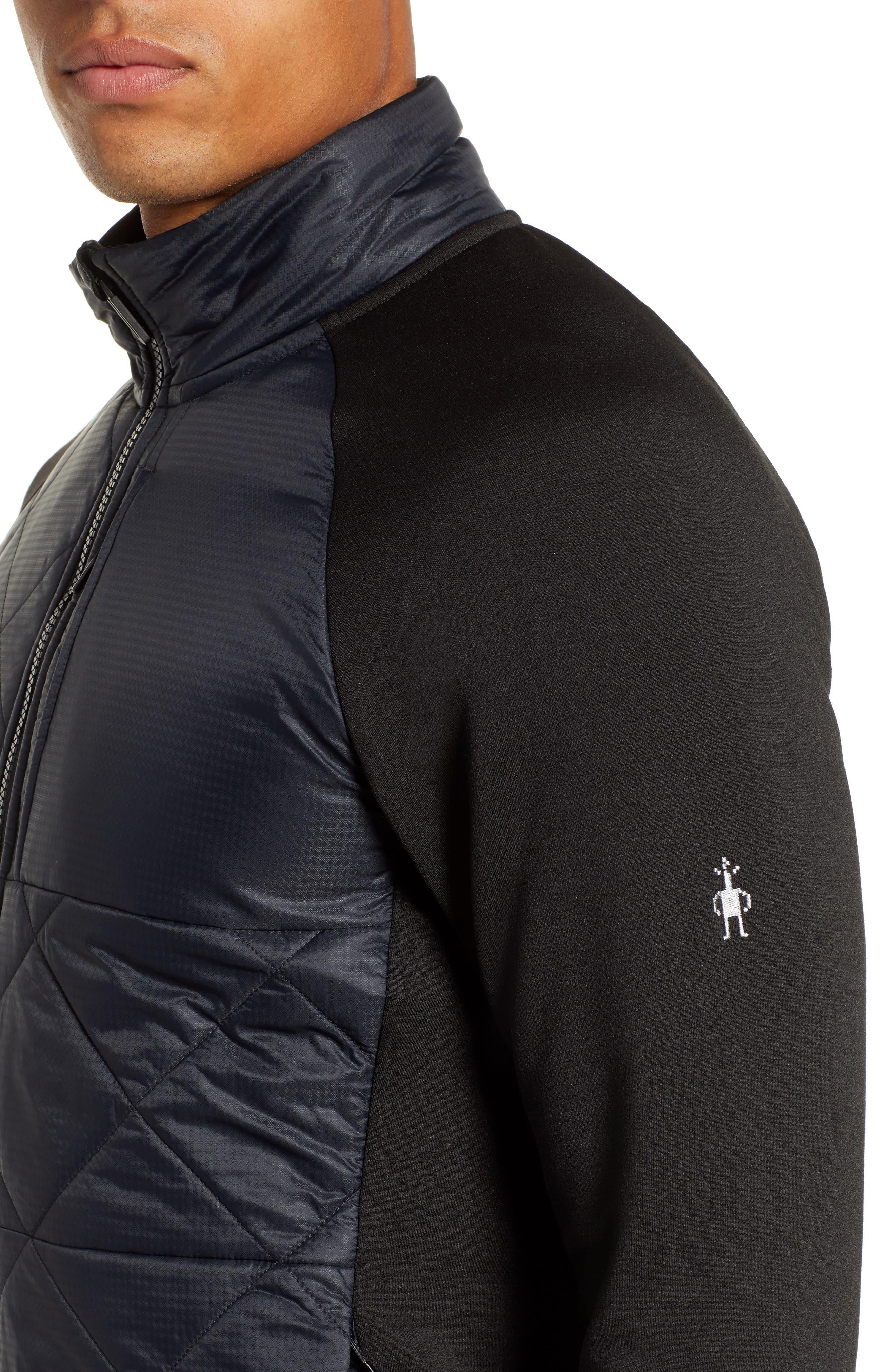 Regular Fit SmartLoft 120 Jacket,                             Alternate thumbnail 4, color,                             BLACK
