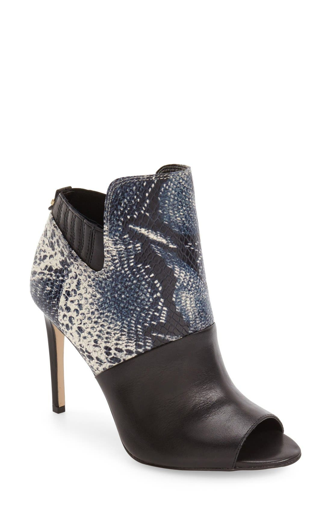 Sarine Peep Toe Bootie,                             Main thumbnail 1, color,