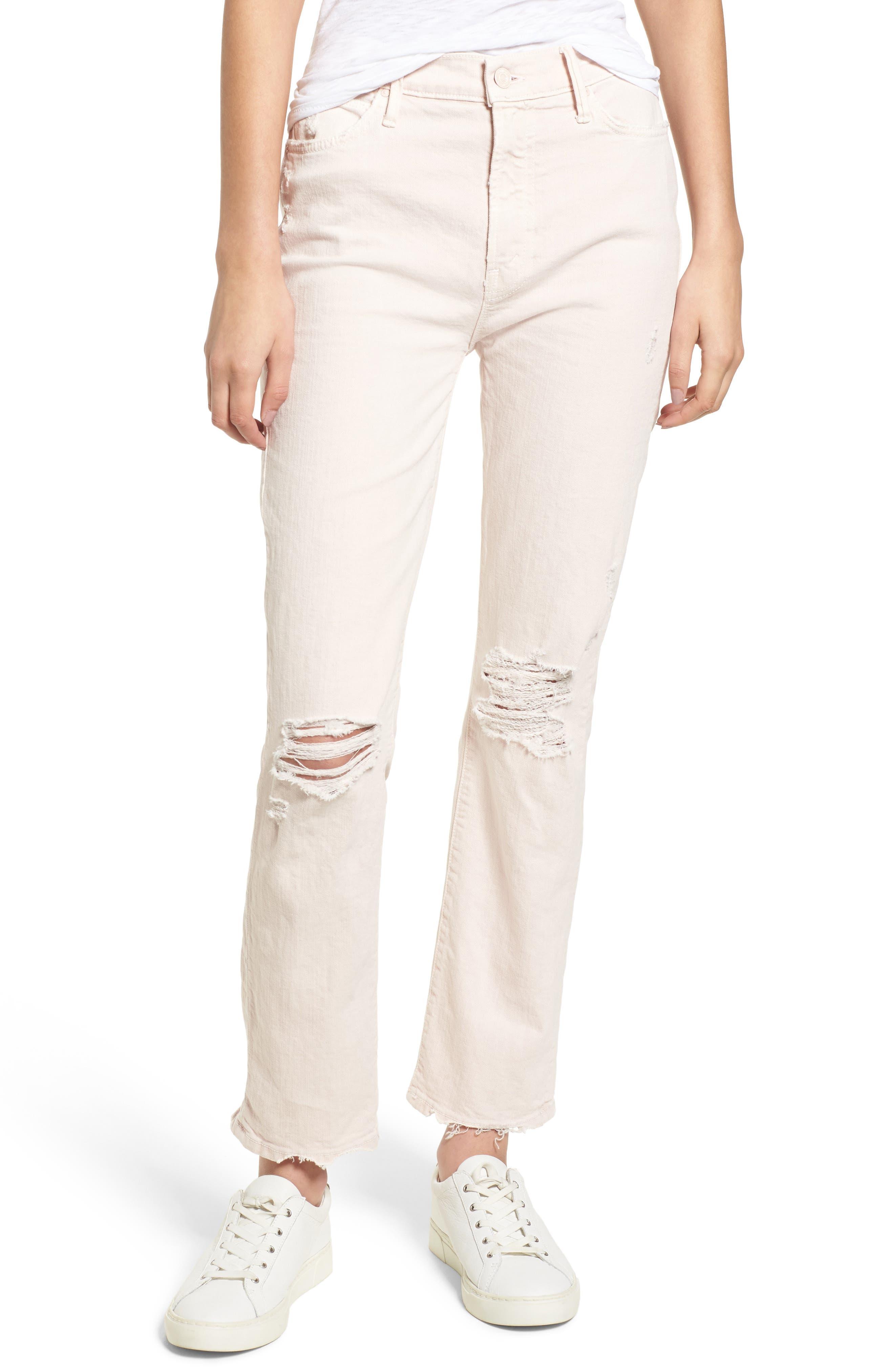 The Rascal High Waist Ankle Straight Leg Jeans,                         Main,                         color, 651