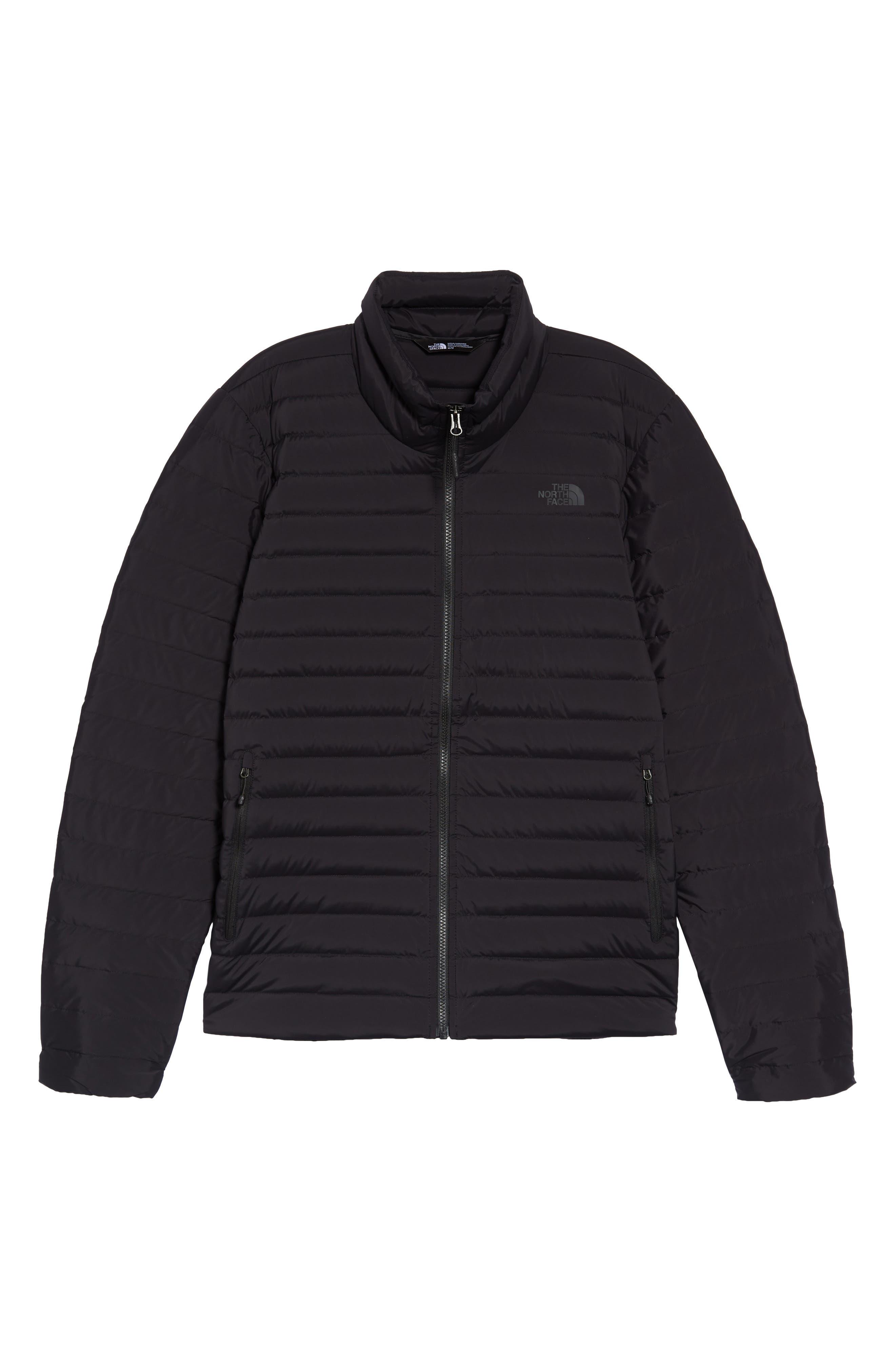 Packable Stretch Down Jacket,                             Alternate thumbnail 6, color,                             TNF BLACK/ TNF BLACK