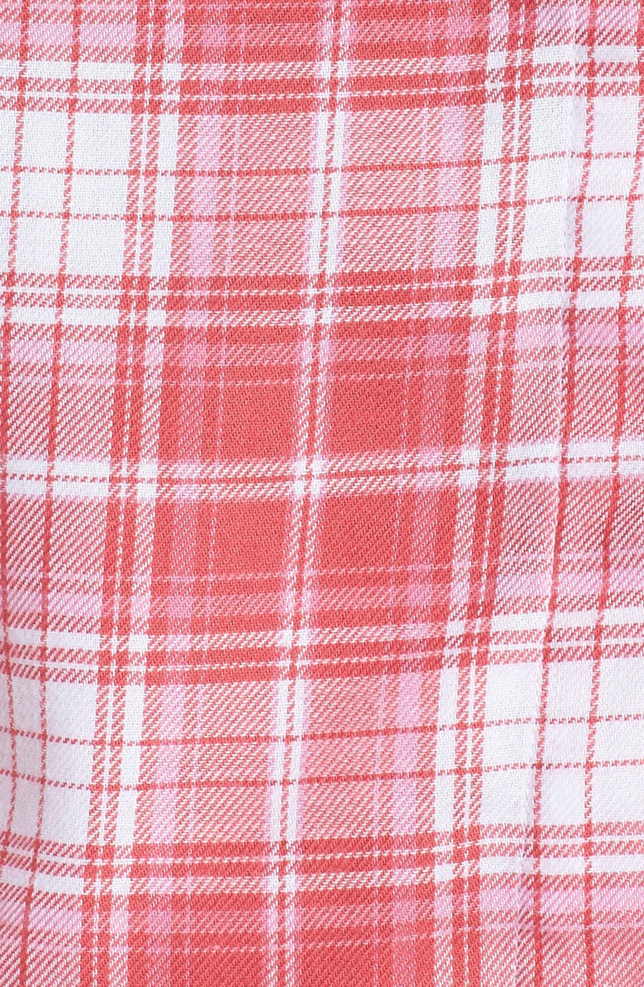 Raven Plaid Pajamas,                             Alternate thumbnail 5, color,                             CLARET RED PLAID