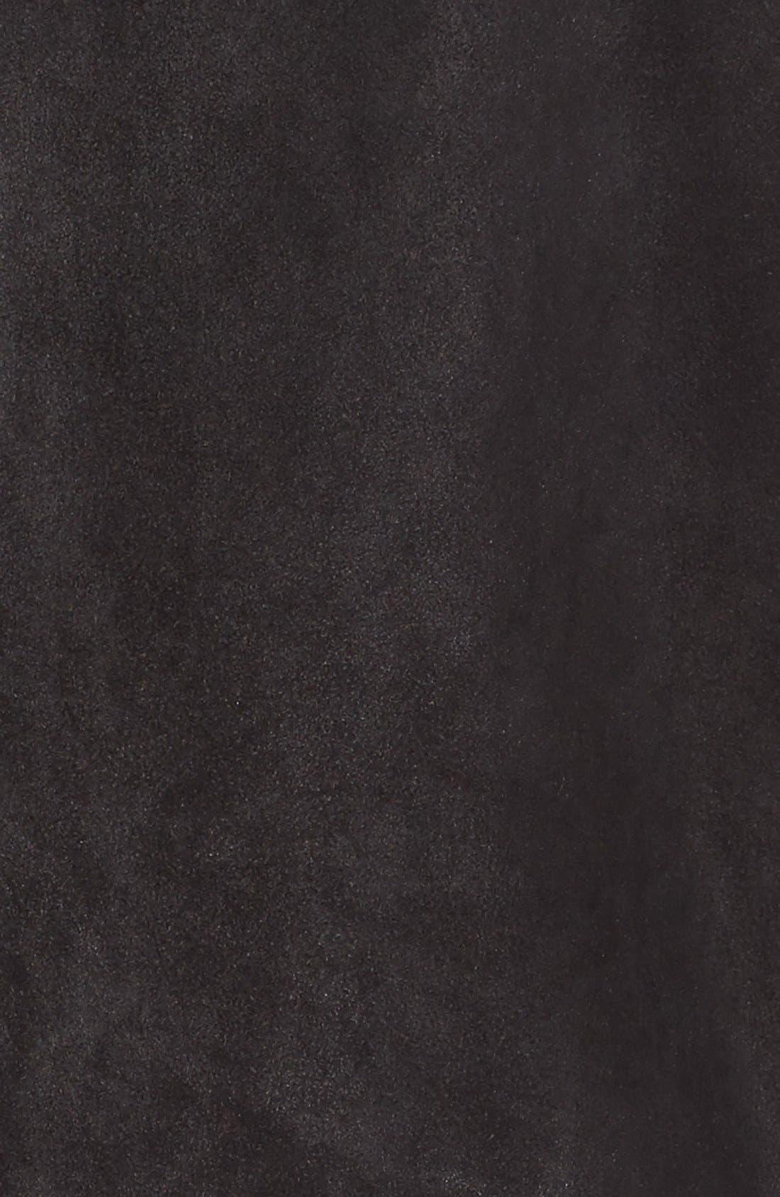 Slim Fit Leather Sport Coat,                             Alternate thumbnail 5, color,                             001