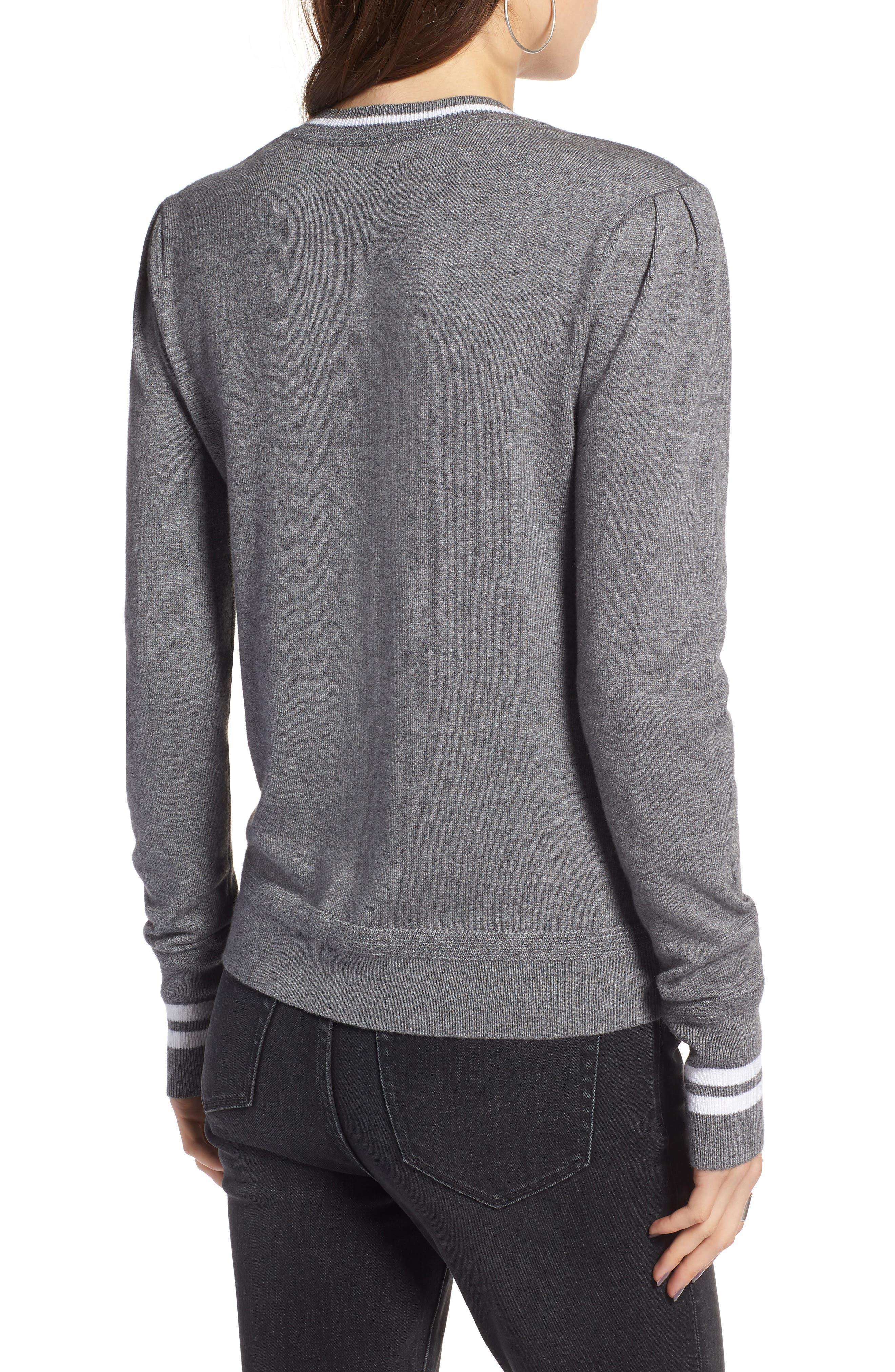 Sporty Stripe Sweater,                             Alternate thumbnail 2, color,                             021