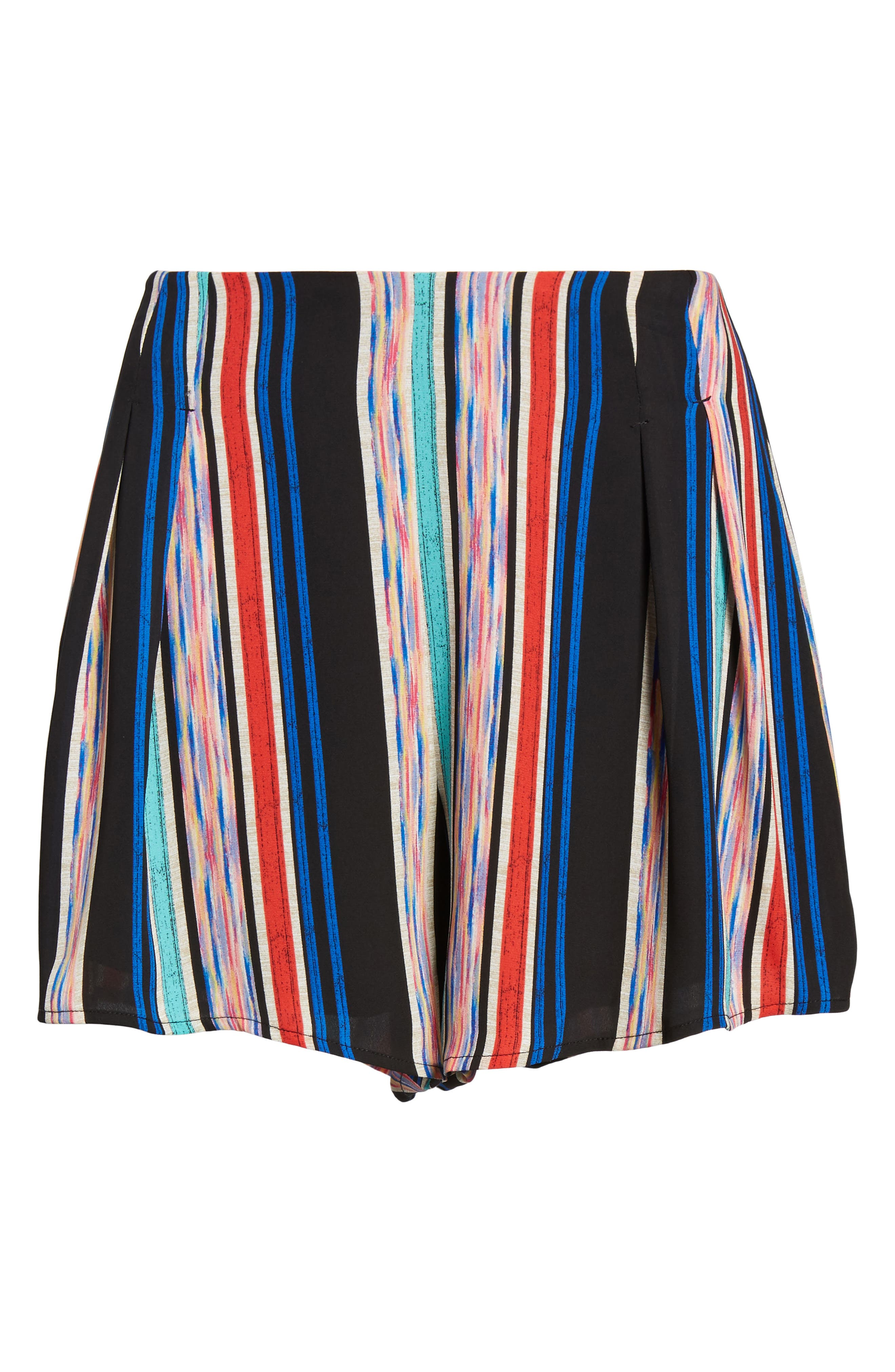 Pleat Front High Waist Shorts,                             Alternate thumbnail 6, color,                             001