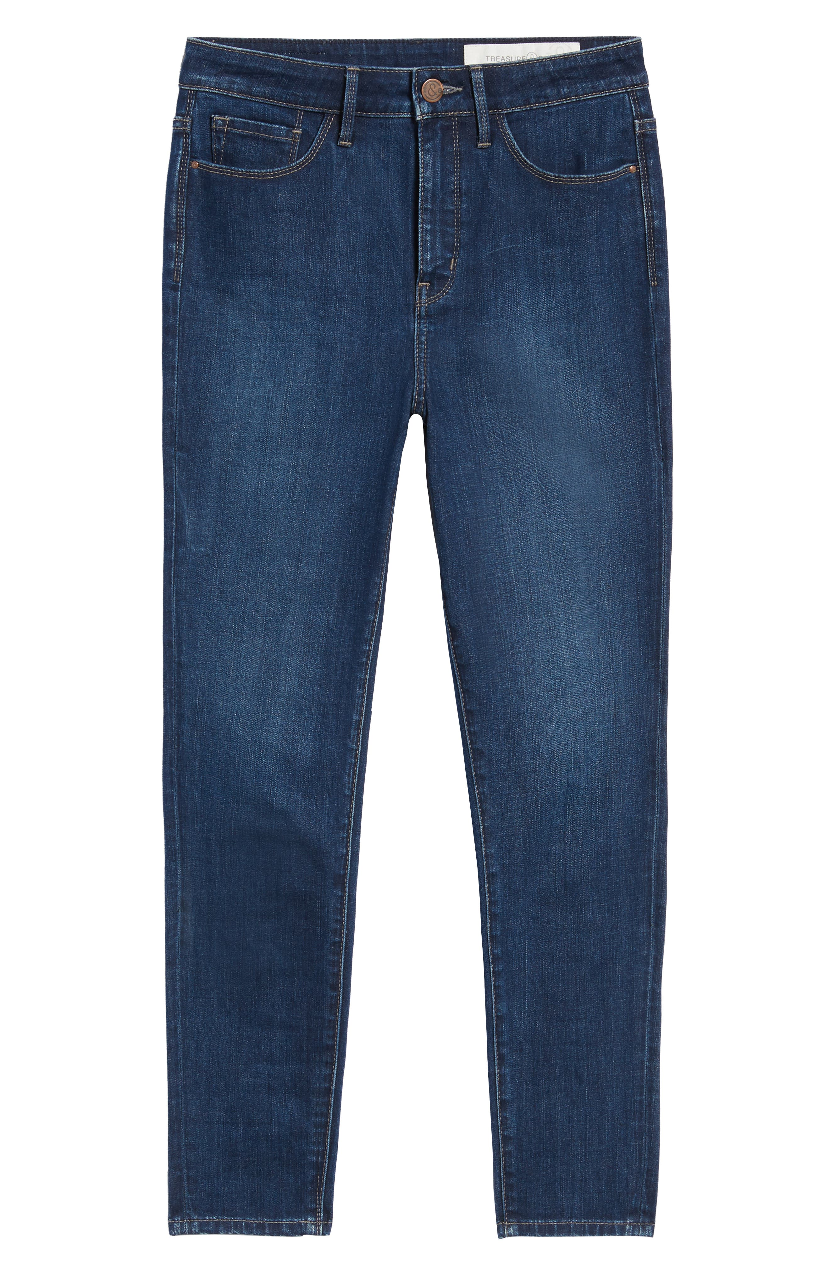 Charity High Waist Ankle Skinny Jeans,                             Alternate thumbnail 6, color,                             401