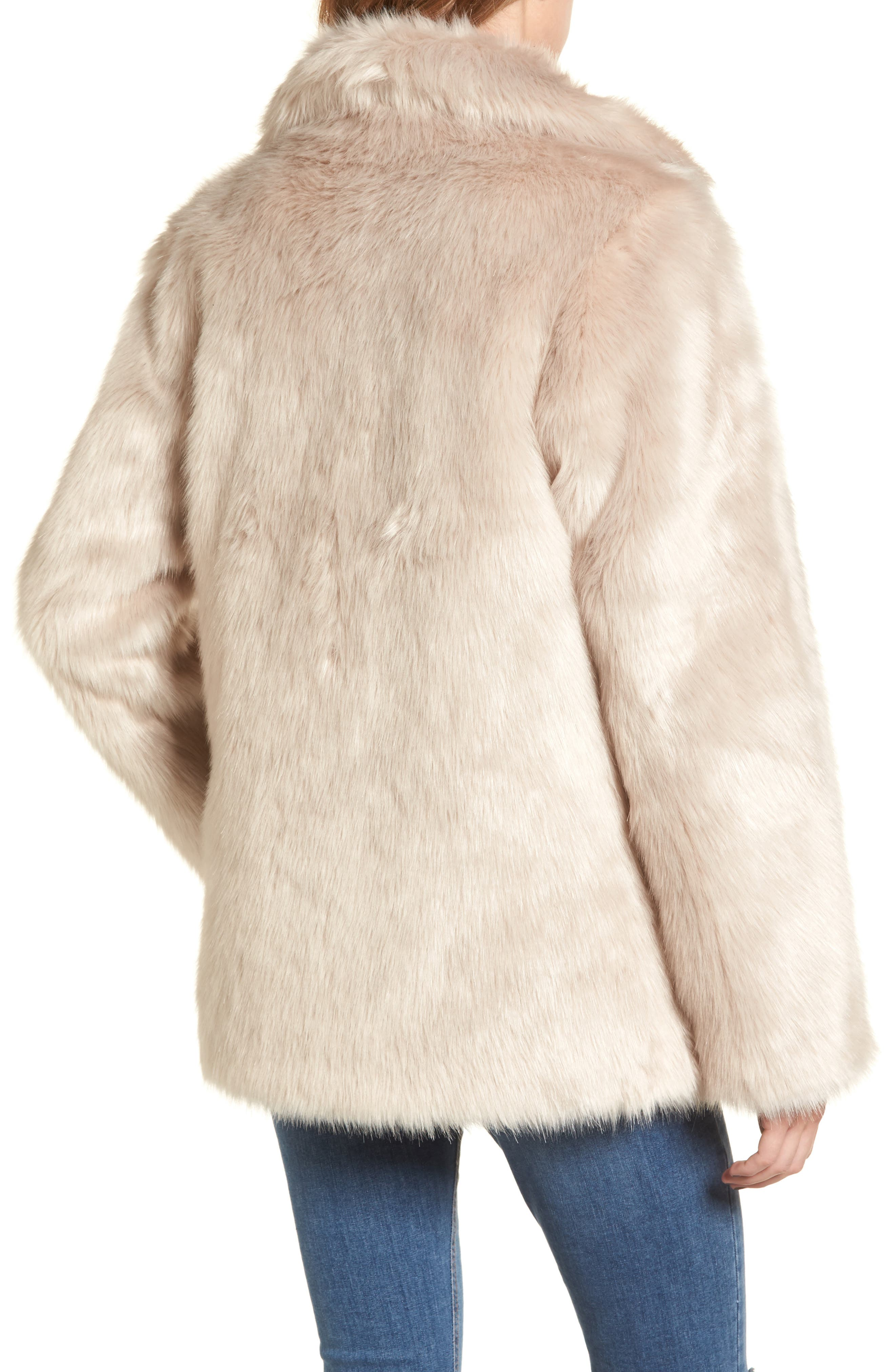 Faux Fur Coat,                             Alternate thumbnail 2, color,                             900