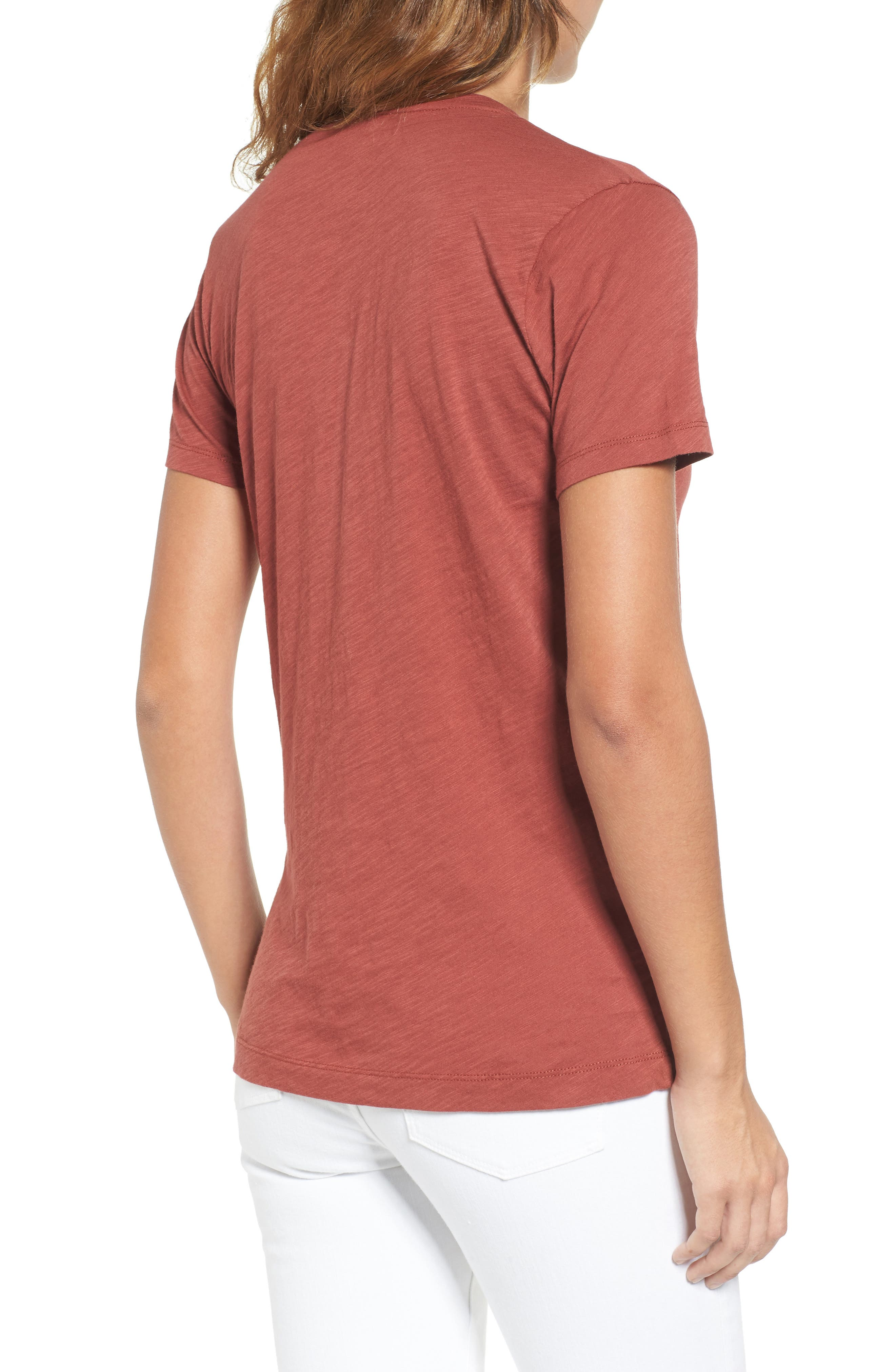 Whisper Cotton V-Neck Pocket Tee,                             Alternate thumbnail 57, color,