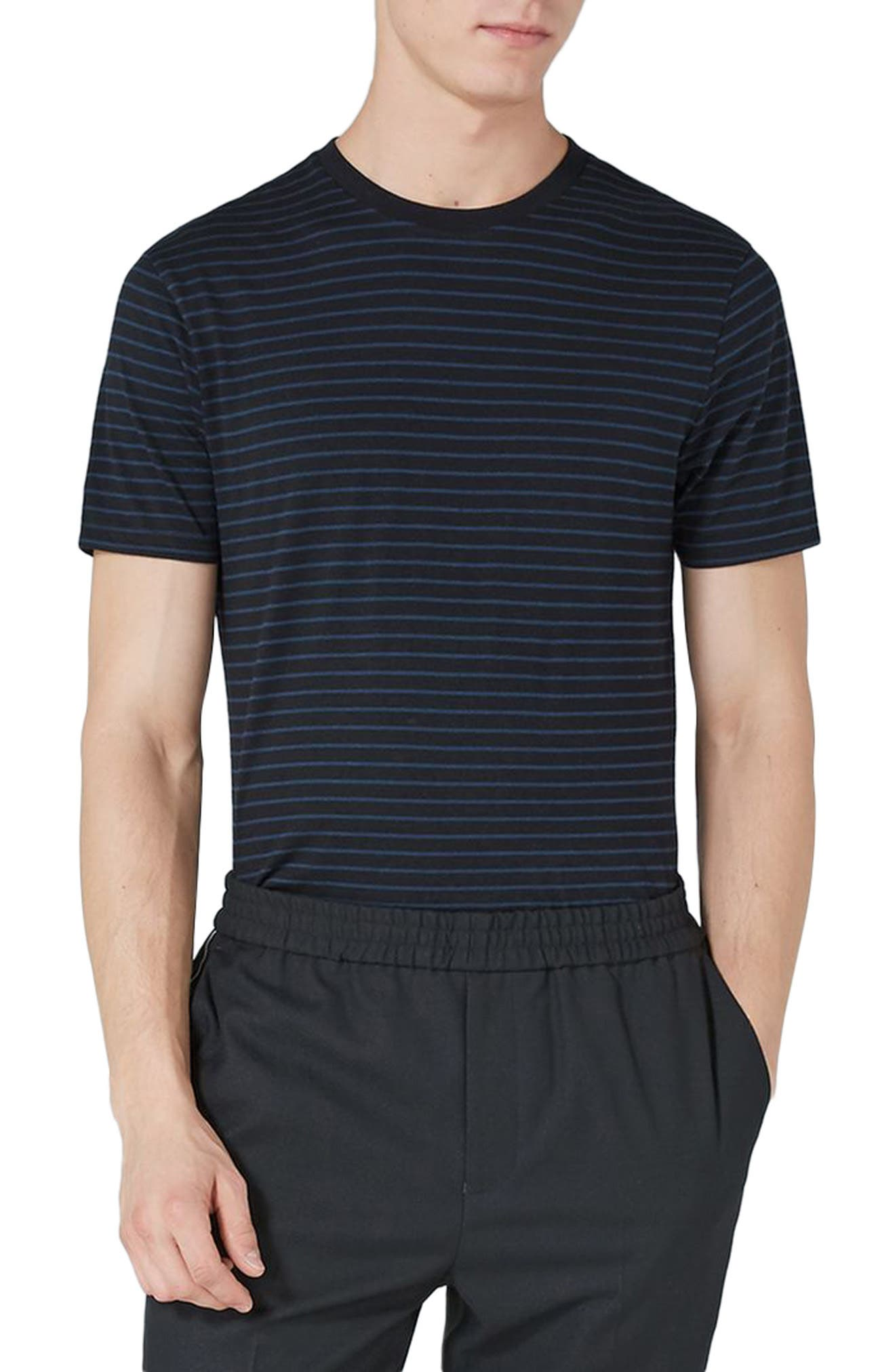 Slim Fit Stripe T-Shirt,                         Main,                         color, 410