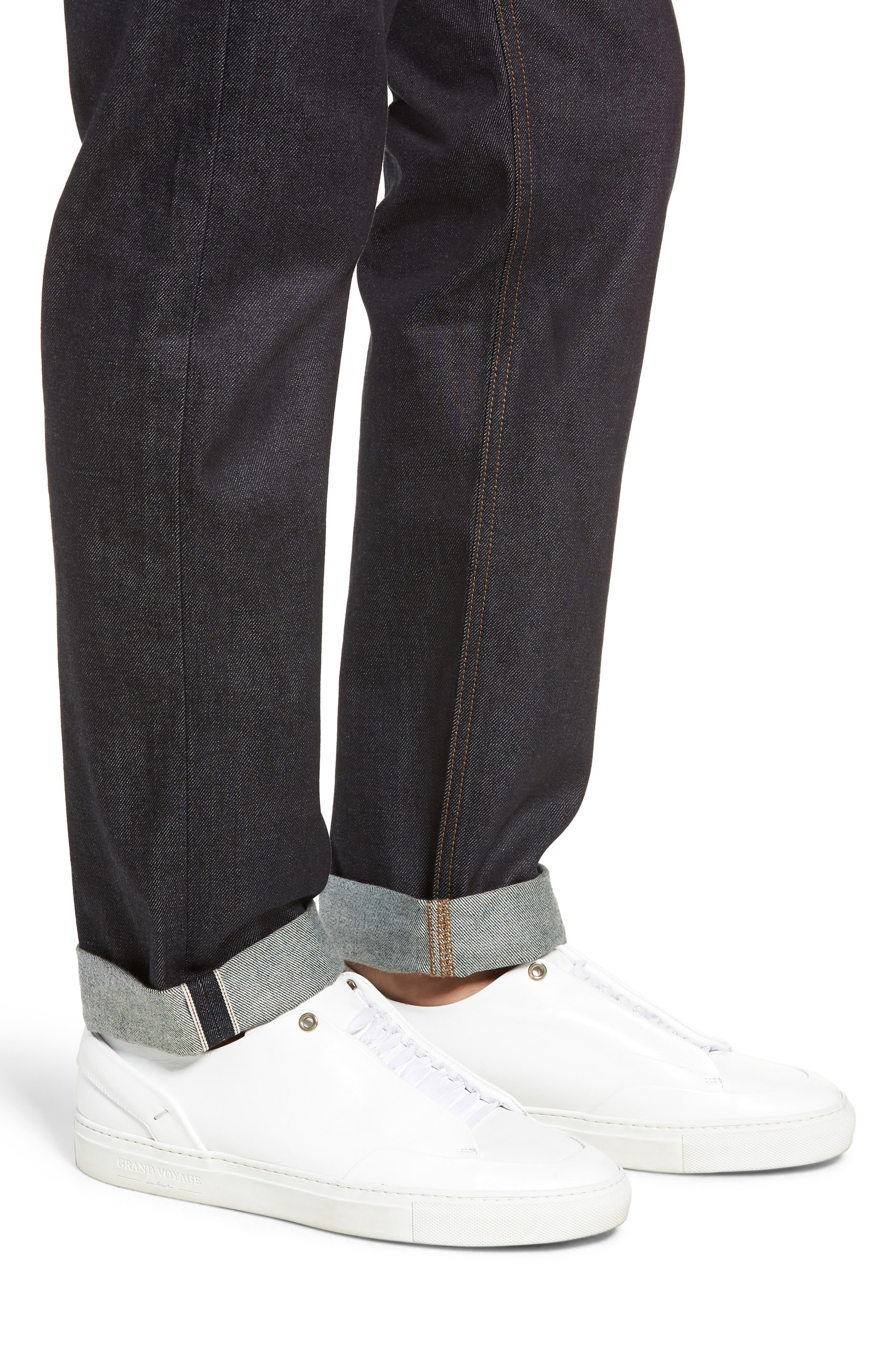Dr. Denim Jeansmaker Gus Slim Straight Leg Raw Selvedge Jeans,                             Alternate thumbnail 4, color,                             RAW SELVAGE