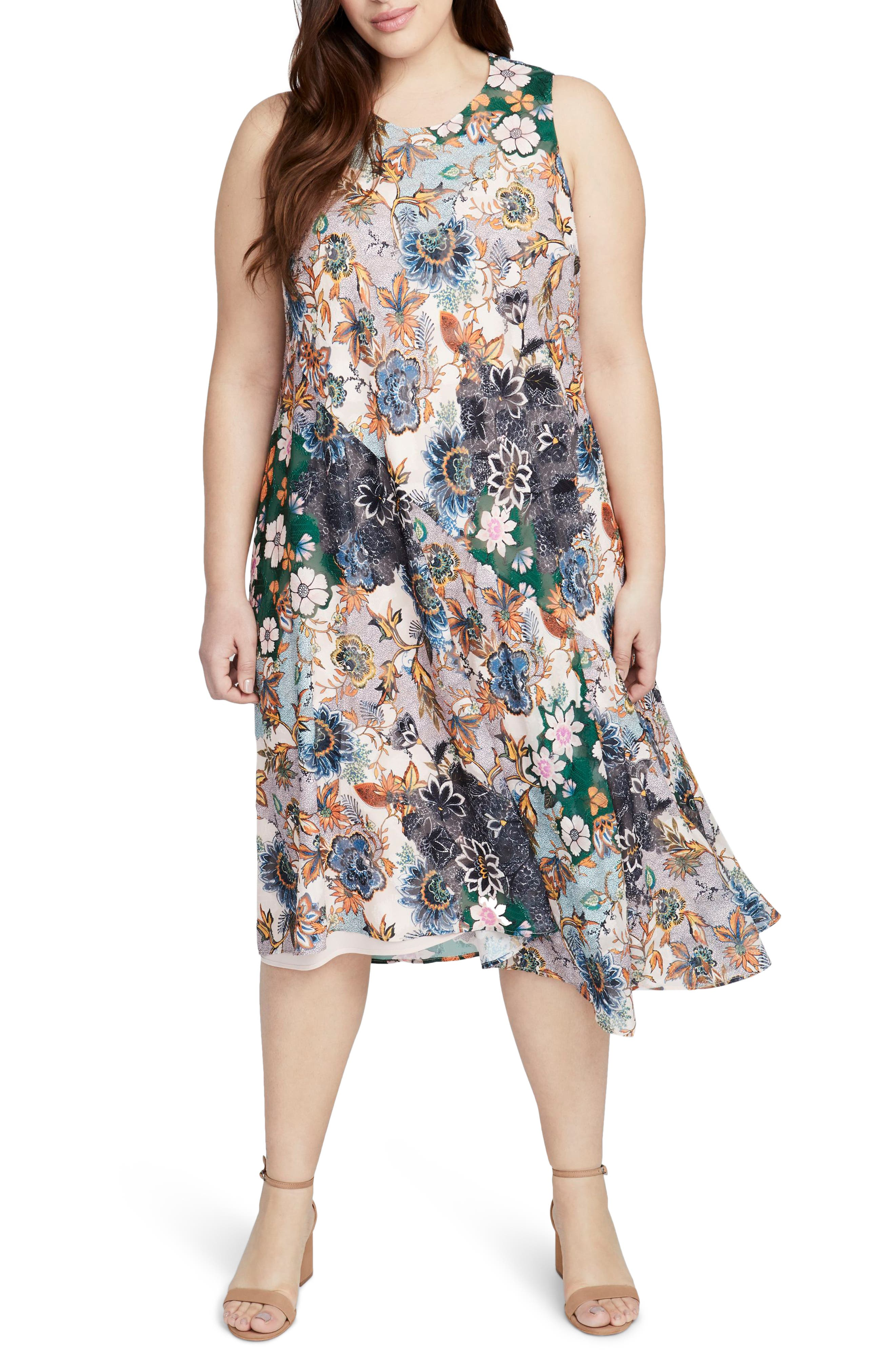 Plus Size Rachel Rachel Roy Wonderlust Scarf Dress, Pink