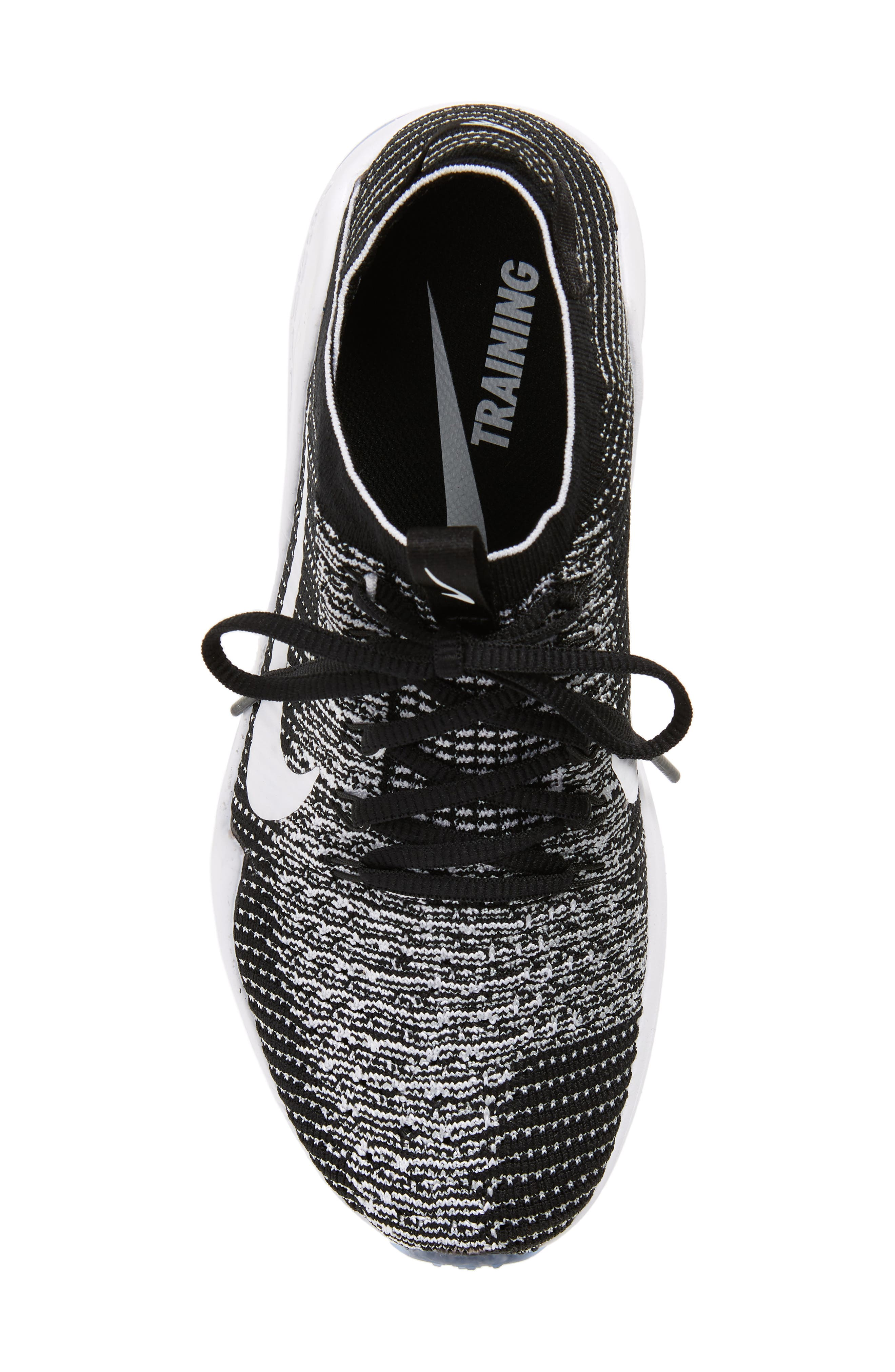 Air Zoom Fearless Flyknit 2 Training Sneaker,                             Alternate thumbnail 5, color,                             BLACK/ WHITE