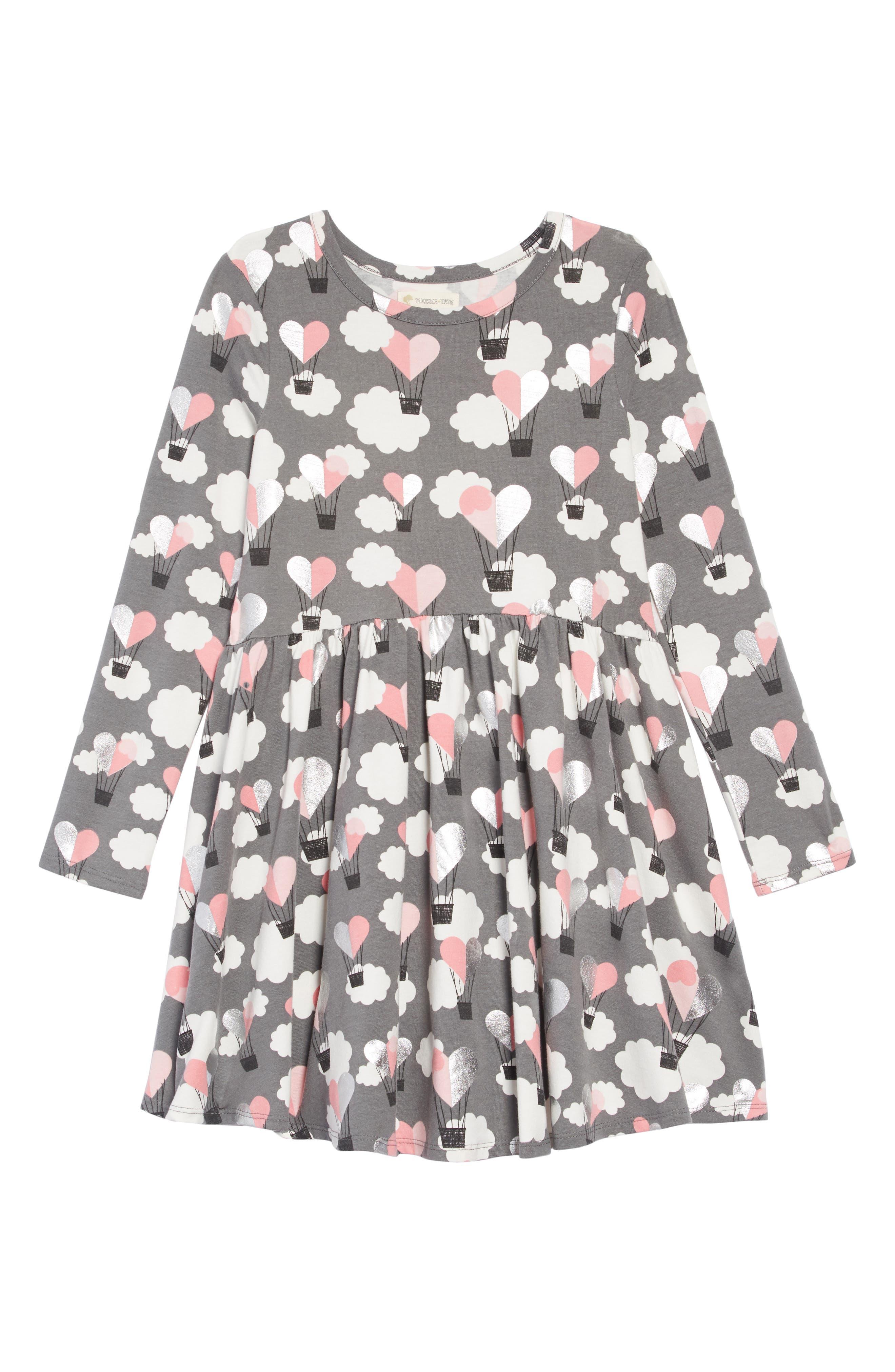 TUCKER + TATE,                             Print Knit Dress,                             Main thumbnail 1, color,                             021