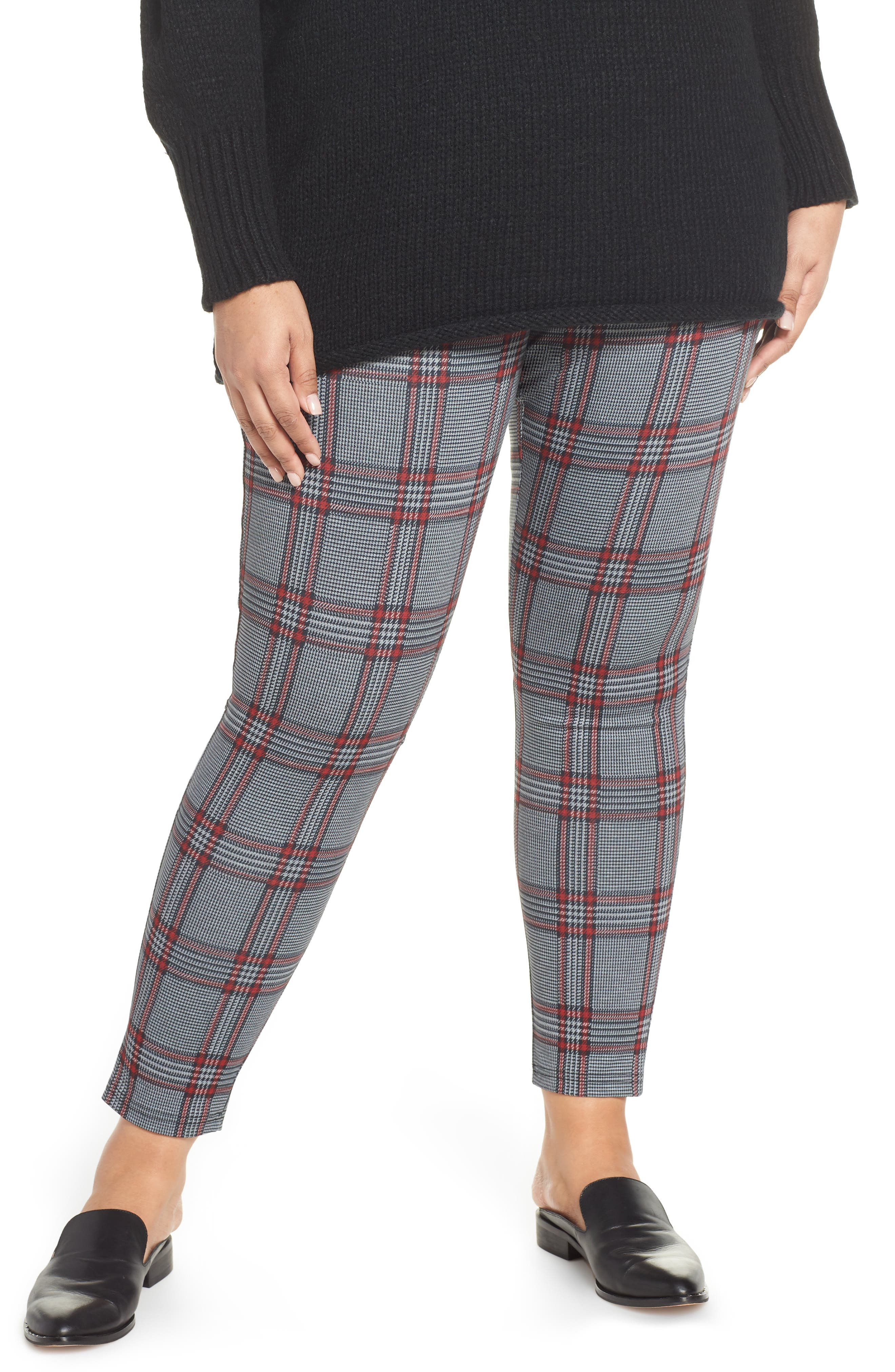 Plus Women's Sanctuary Grease Houndstooth Leggings
