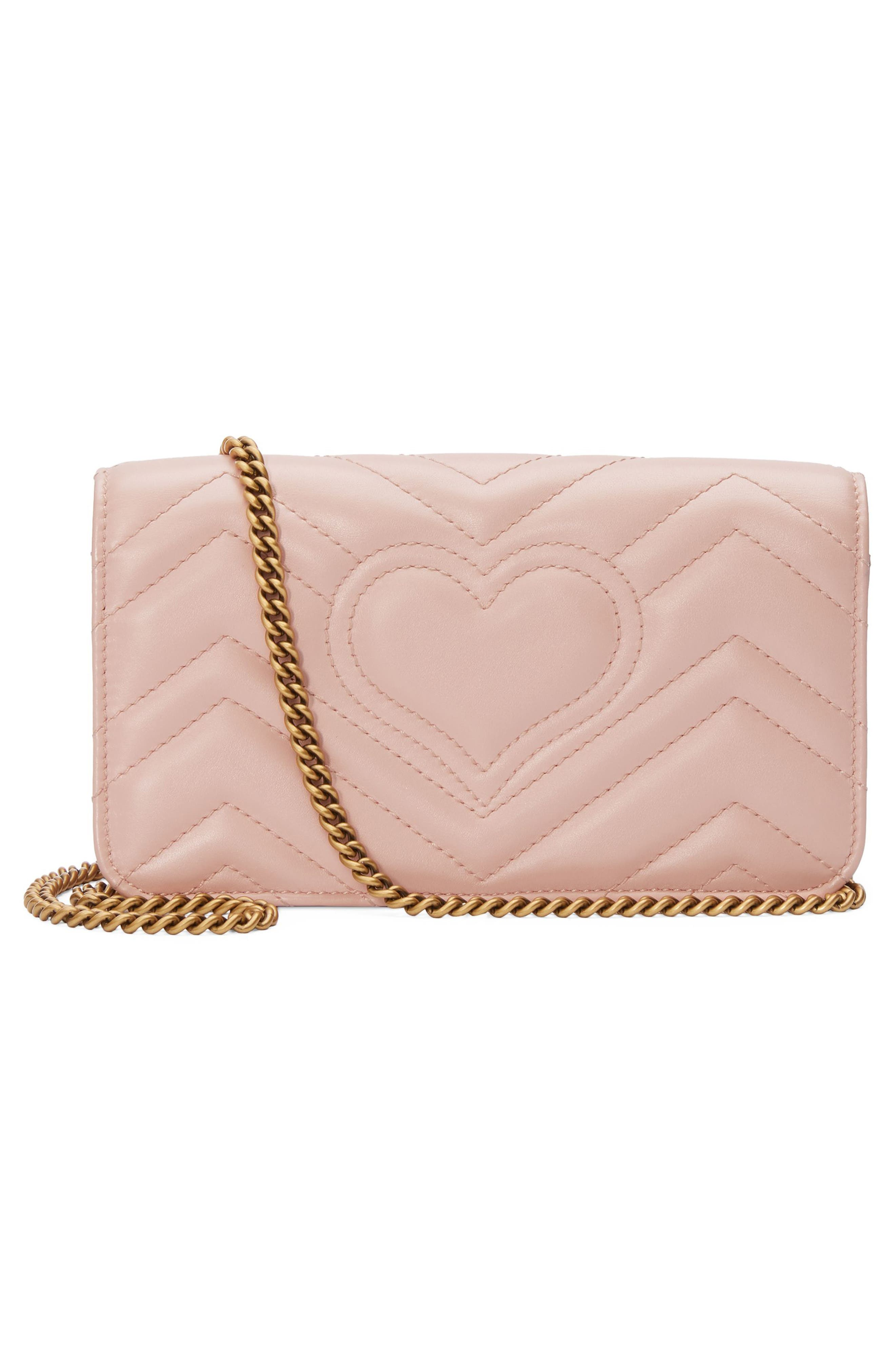 Marmont 2.0 Leather Shoulder Bag,                             Alternate thumbnail 2, color,                             PERFECT PINK