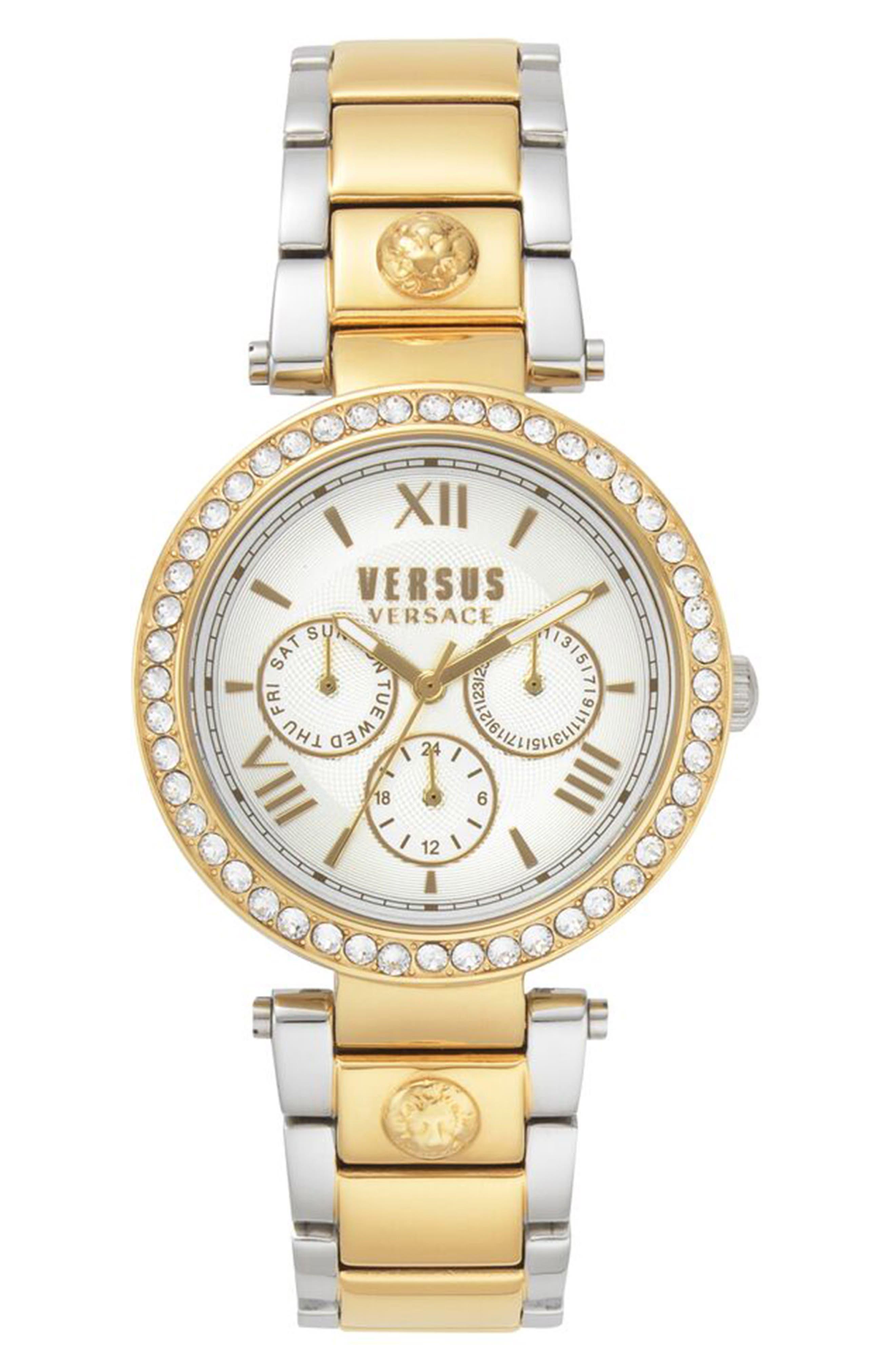 Women's Versus Versace Camden Market Multifunction Bracelet Watch, 38Mm