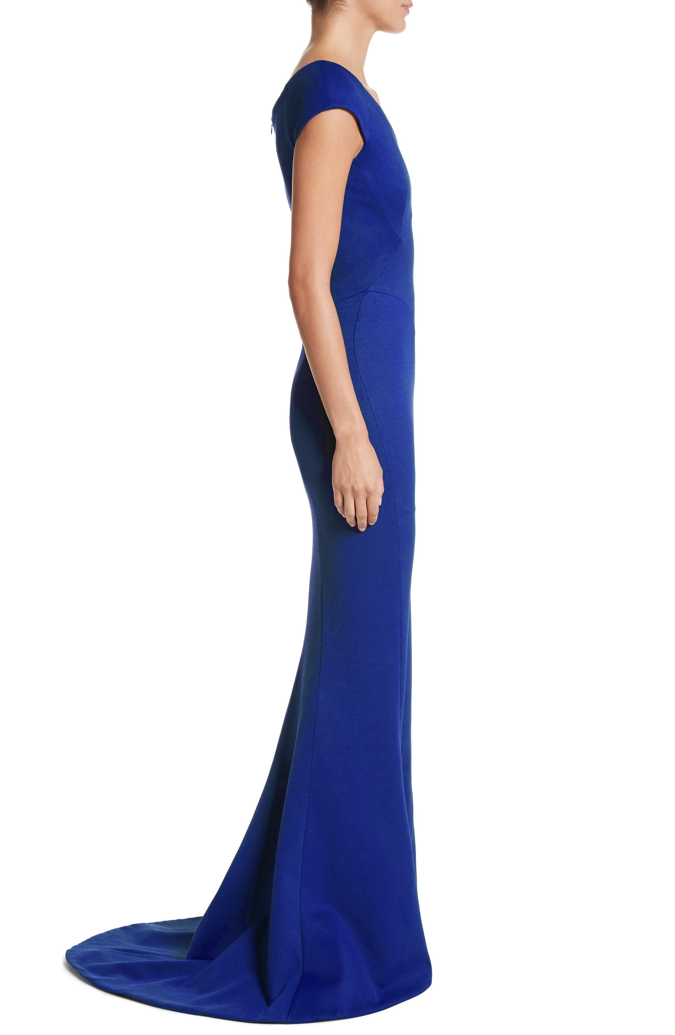 Bonded Jersey Mermaid Gown,                             Alternate thumbnail 6, color,