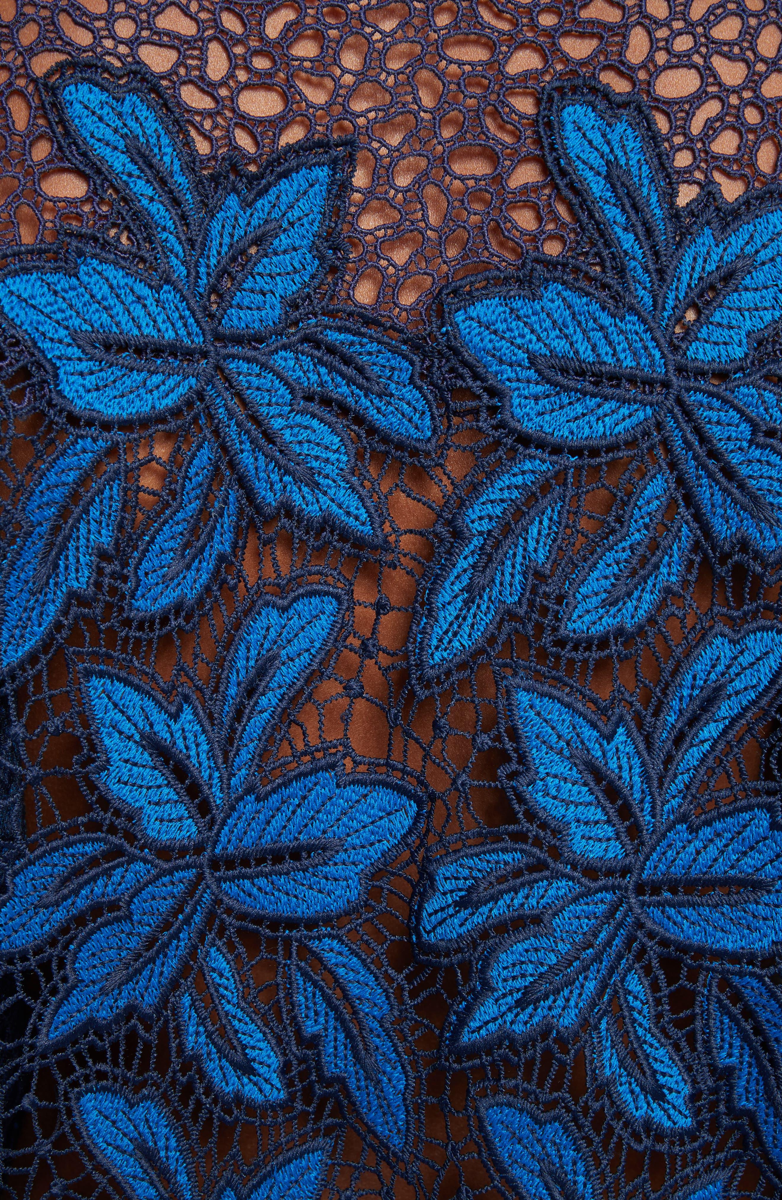 Mosaic Lace Bell Sleeve Sweatshirt,                             Alternate thumbnail 5, color,                             402