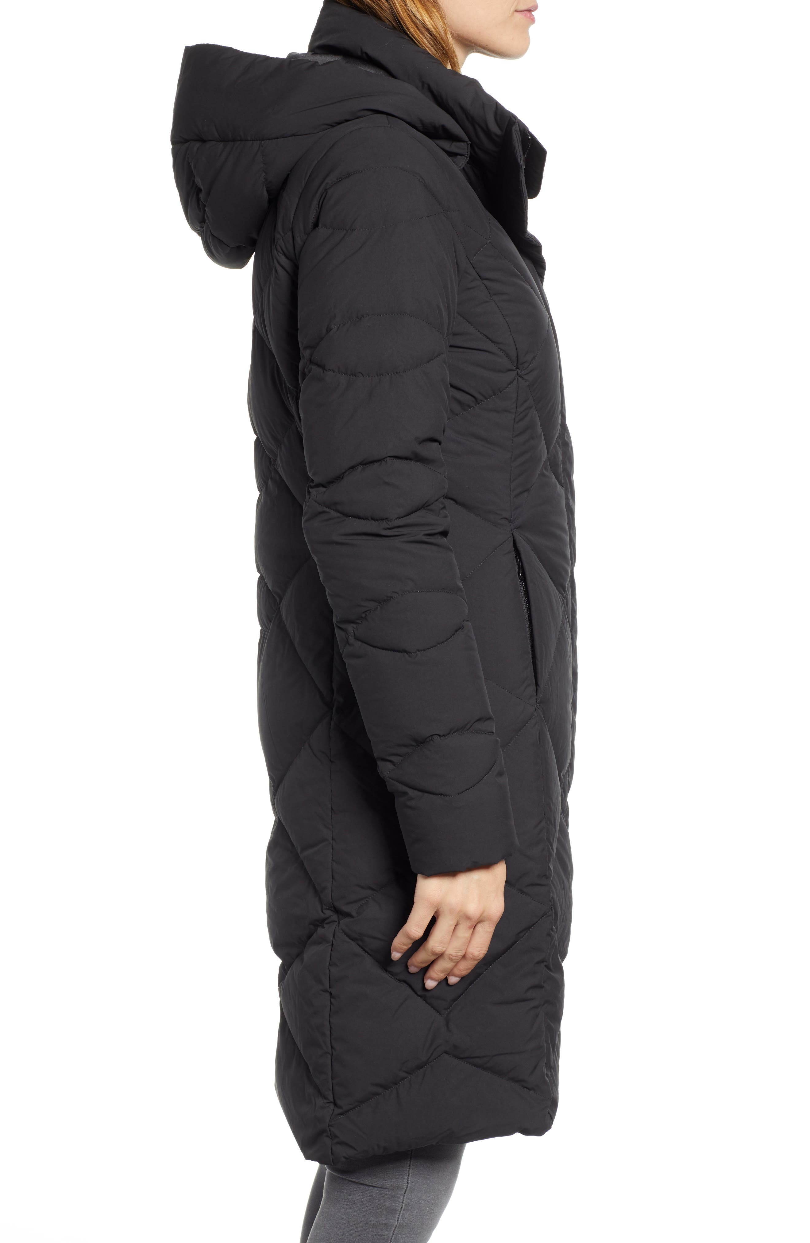 Miss Metro II Water Repellent 550 Fill Power Down Hooded Parka,                             Alternate thumbnail 3, color,                             001