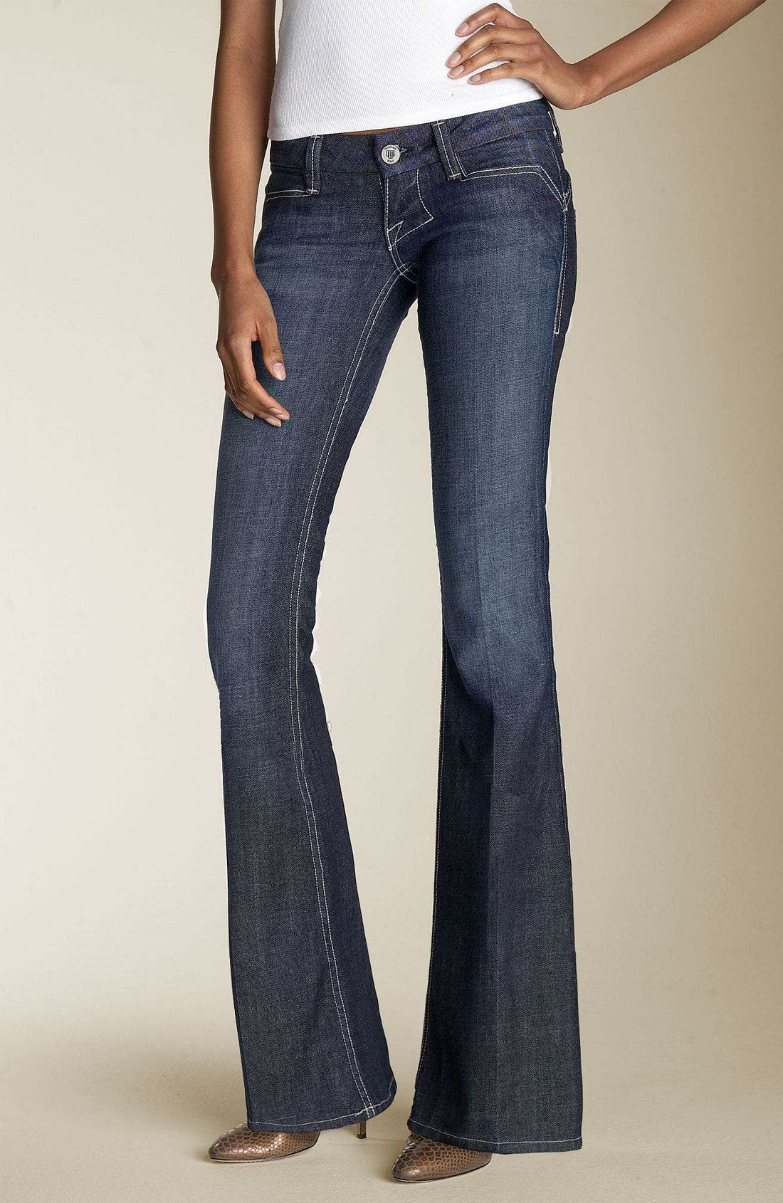 'Savoy' Ultra Low Rise Stretch Jeans, Main, color, 499