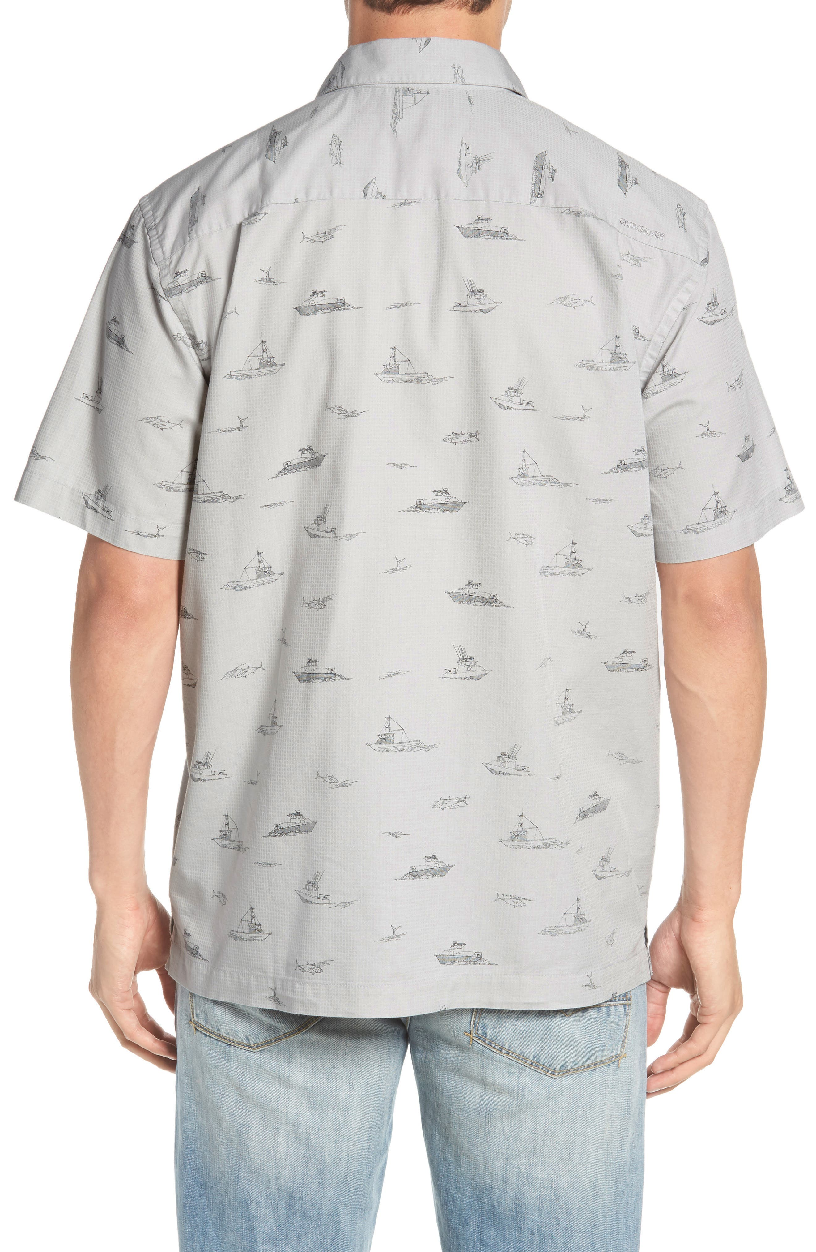 Channel Cruising Classic Fit Sport Shirt,                             Alternate thumbnail 2, color,                             HIGHRISE