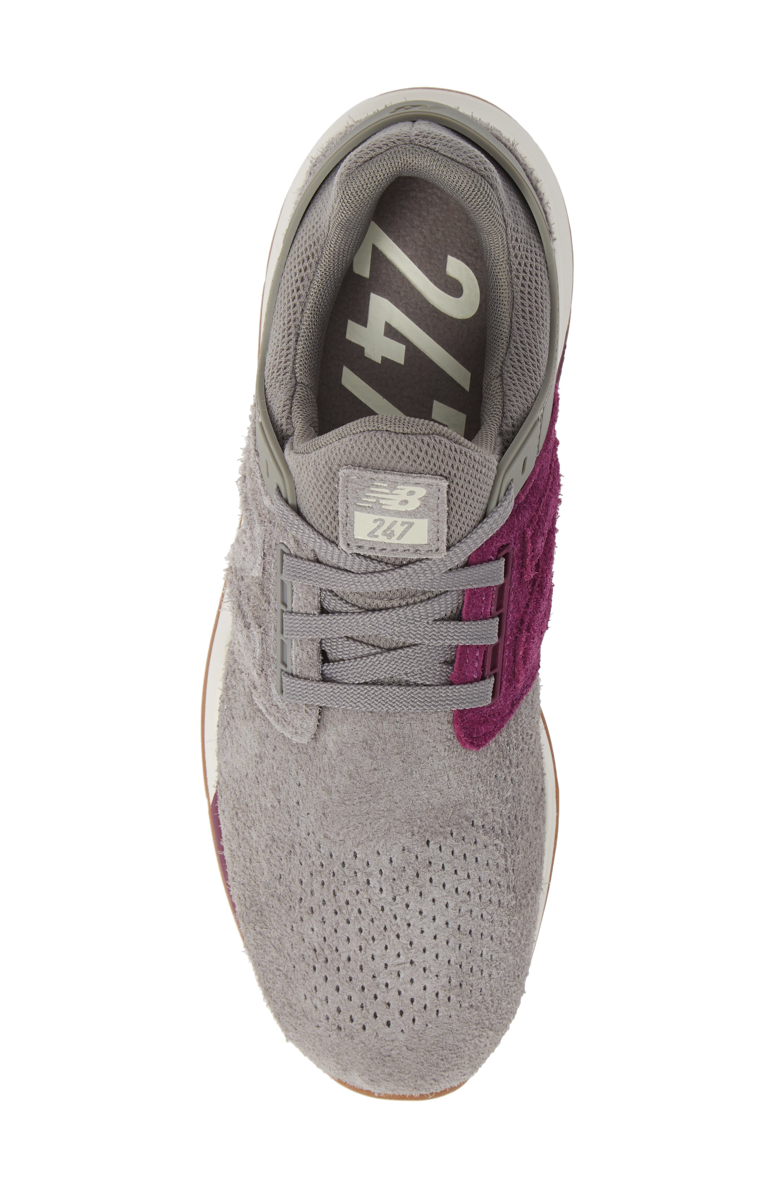 247 Suede Sneaker,                             Alternate thumbnail 5, color,                             MARBLEHEAD SUEDE
