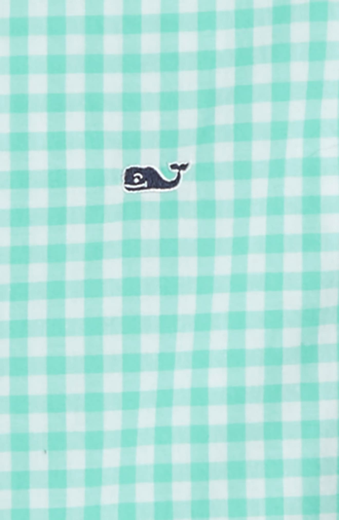 Gingham Check Whale Shirt,                             Alternate thumbnail 2, color,                             CAPRI BLUE
