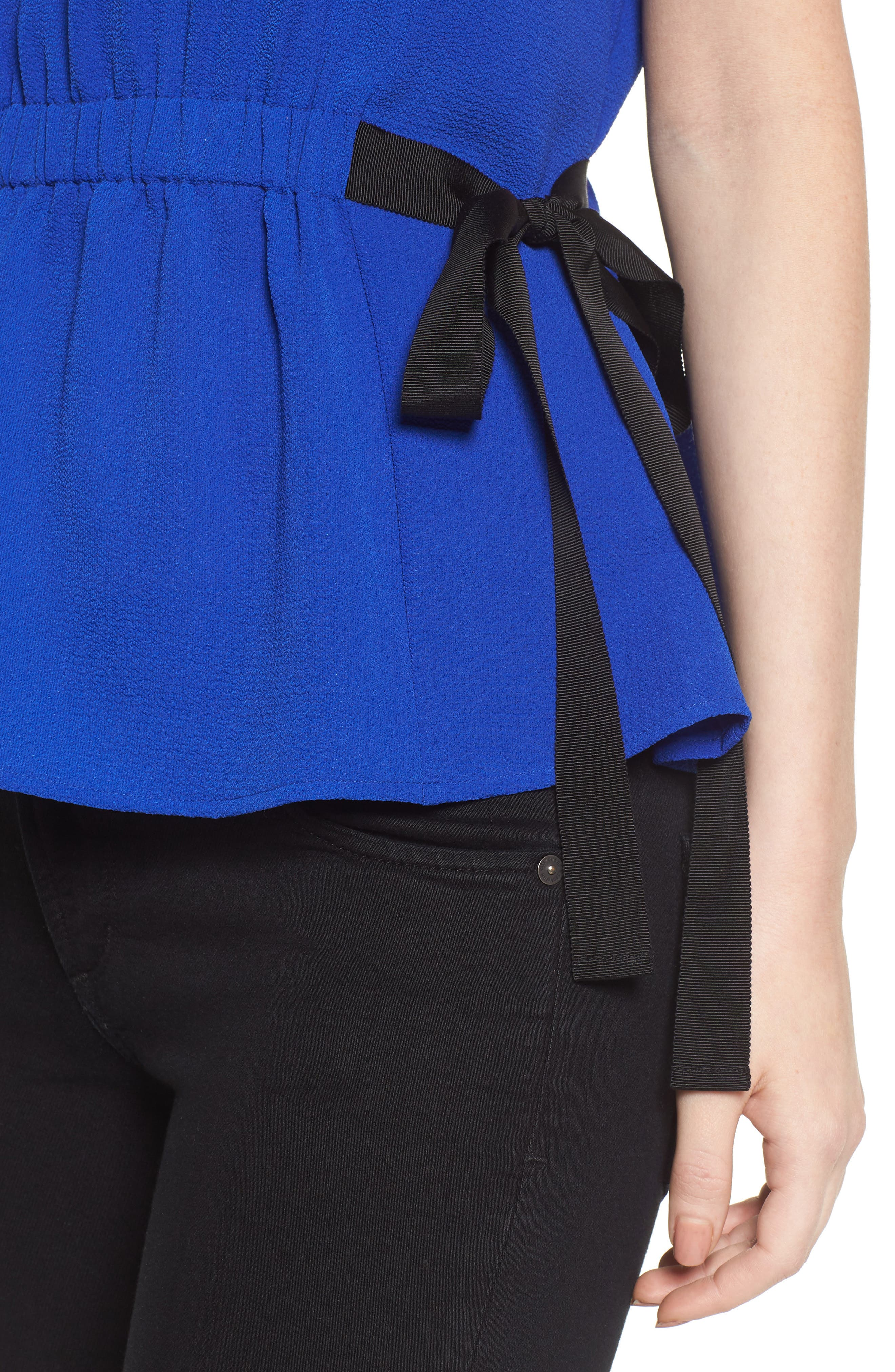 Gathered Waist Side Tie Top,                             Alternate thumbnail 22, color,