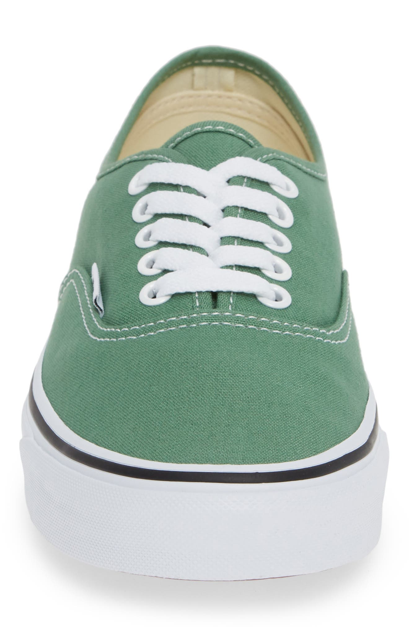 VANS,                             'Authentic' Sneaker,                             Alternate thumbnail 4, color,                             DEEP GRASS GREEN/ TRUE WHITE