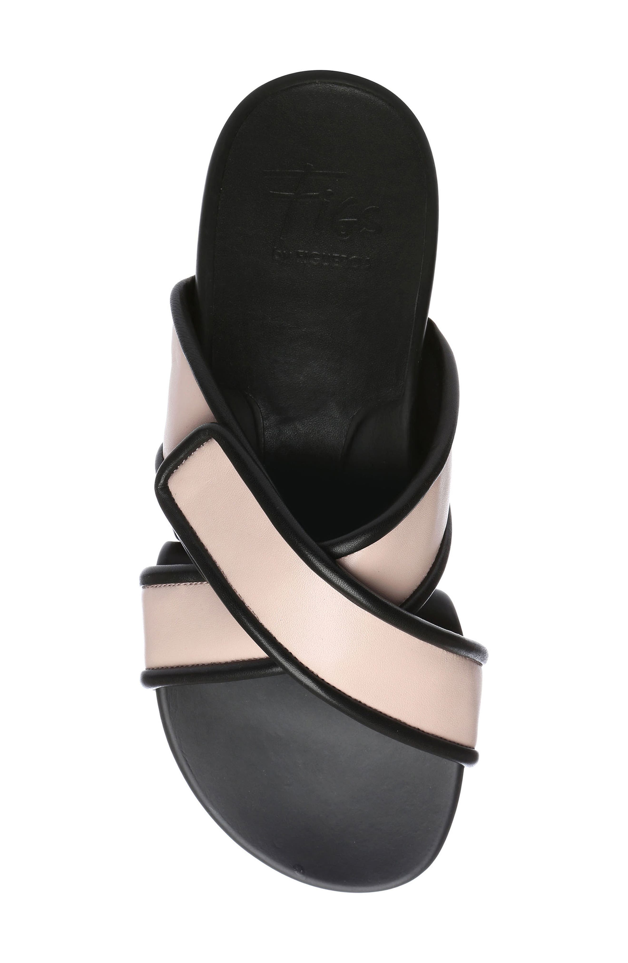 Figomatic Slide Sandal,                             Alternate thumbnail 5, color,                             PINK NAPPA LEATHER