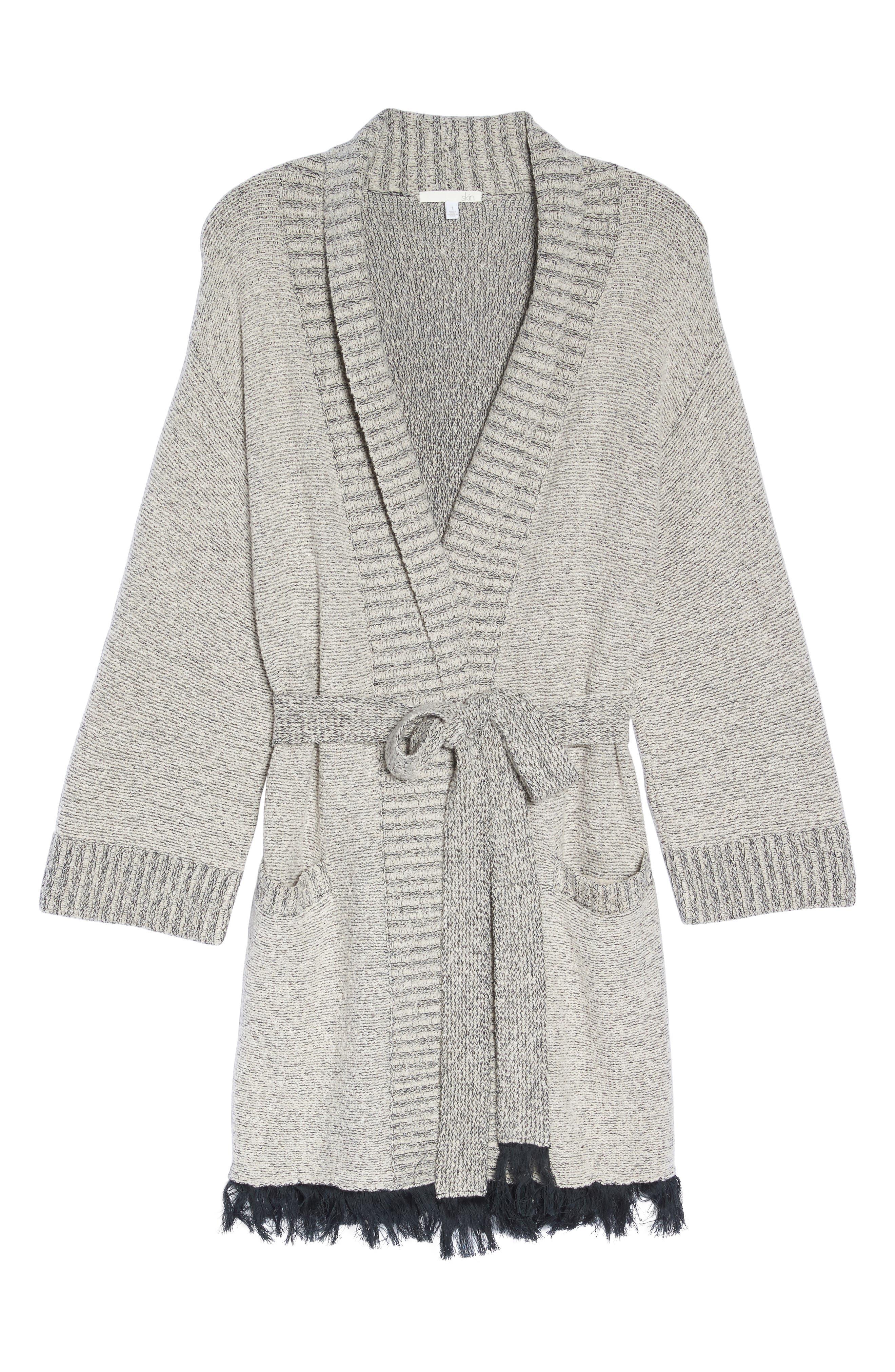 Cozy Bouclé Short Robe,                             Alternate thumbnail 6, color,                             900