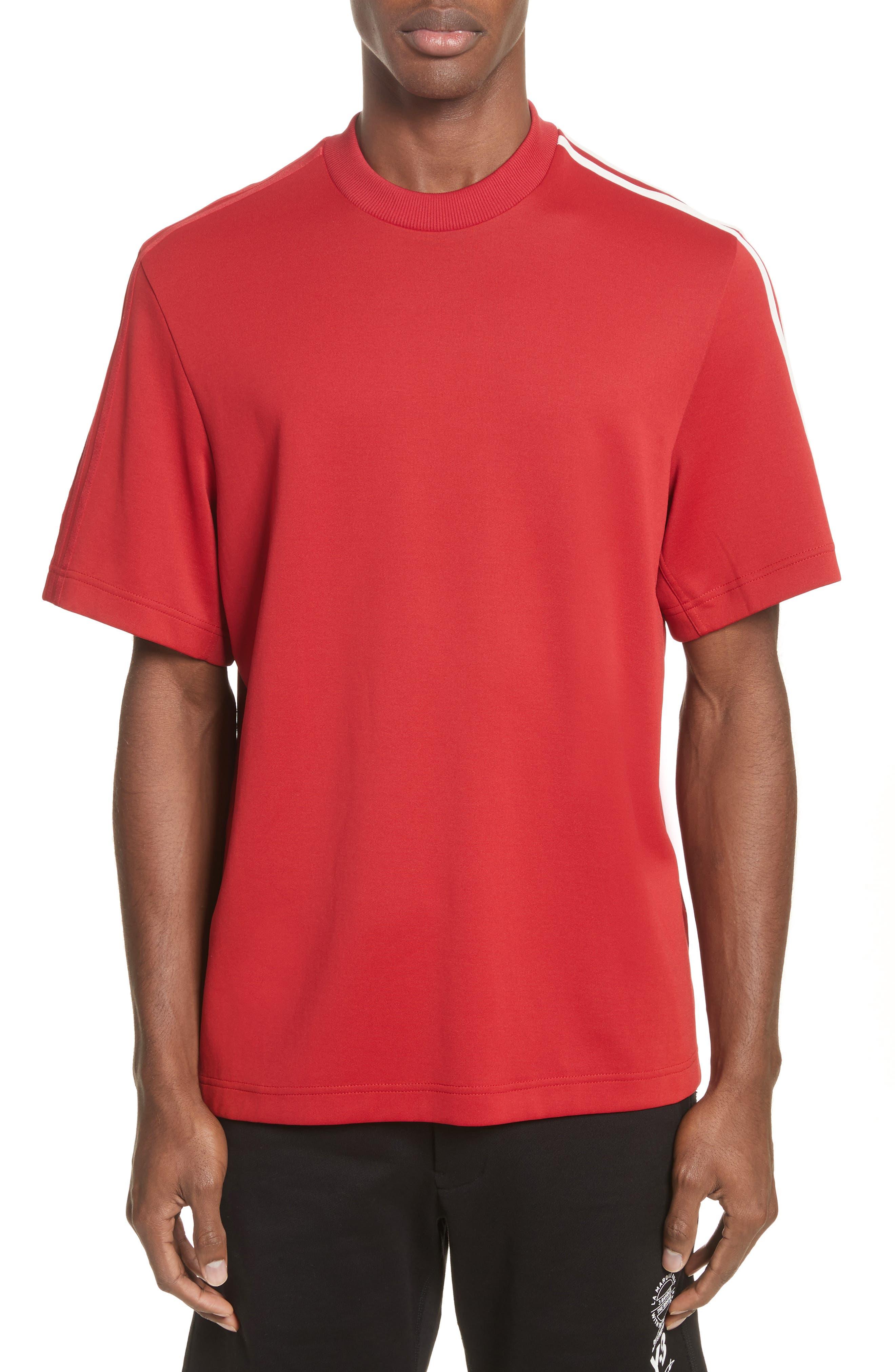 x adidas Stripe Crewneck T-Shirt,                             Main thumbnail 1, color,