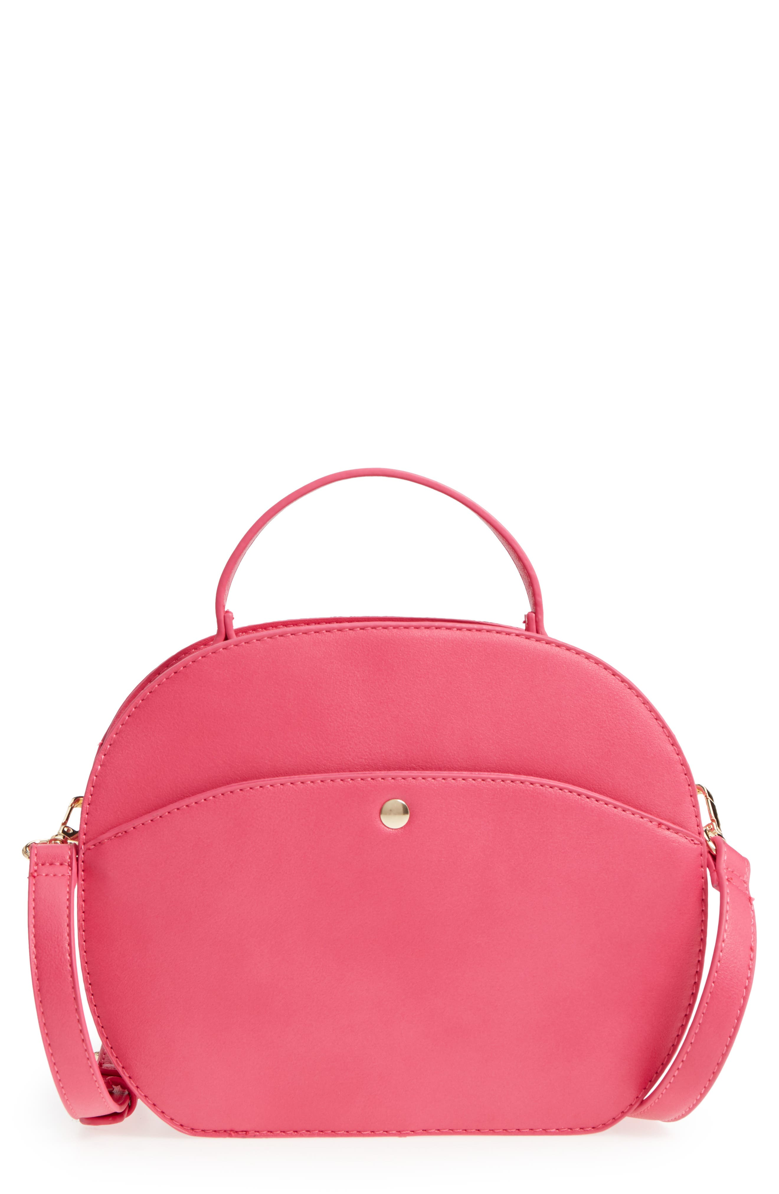 Oval Canteen Faux Leather Satchel,                             Main thumbnail 2, color,