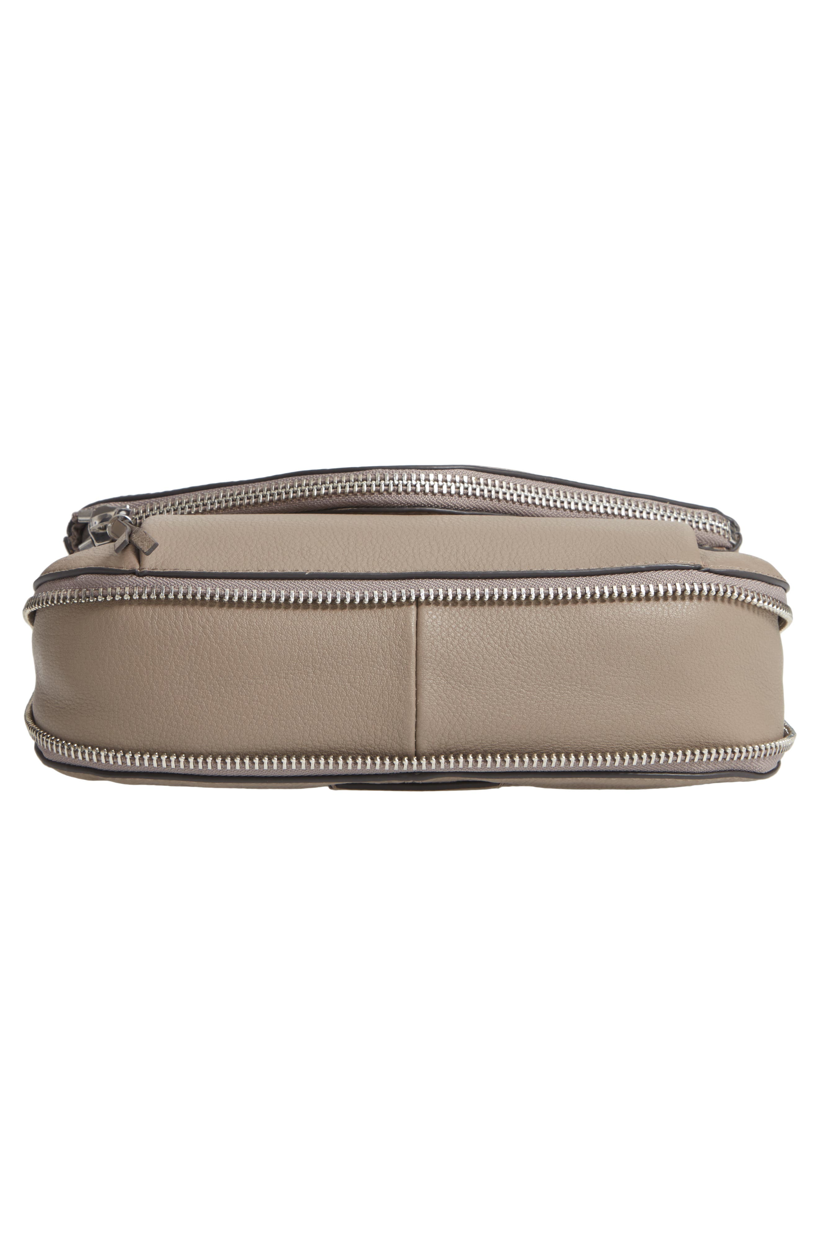 Key Leather Crossbody Bag,                             Alternate thumbnail 6, color,                             TRANQUILITY