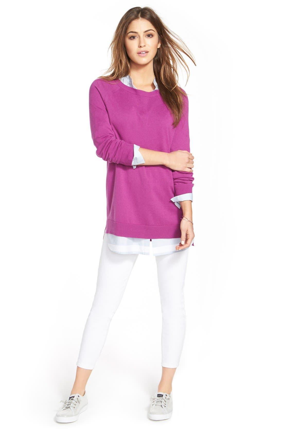 Raglan Crewneck Sweater,                             Alternate thumbnail 4, color,                             510