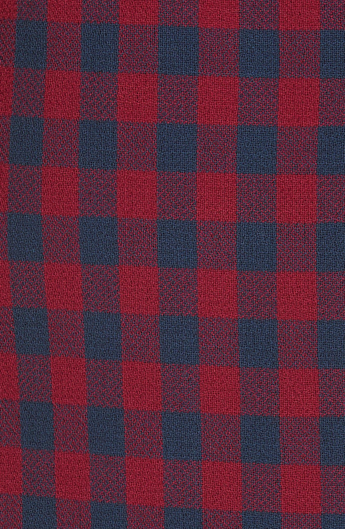 Thea Plaid Wool Pencil Skirt,                             Alternate thumbnail 5, color,                             BERRY/ NAVY